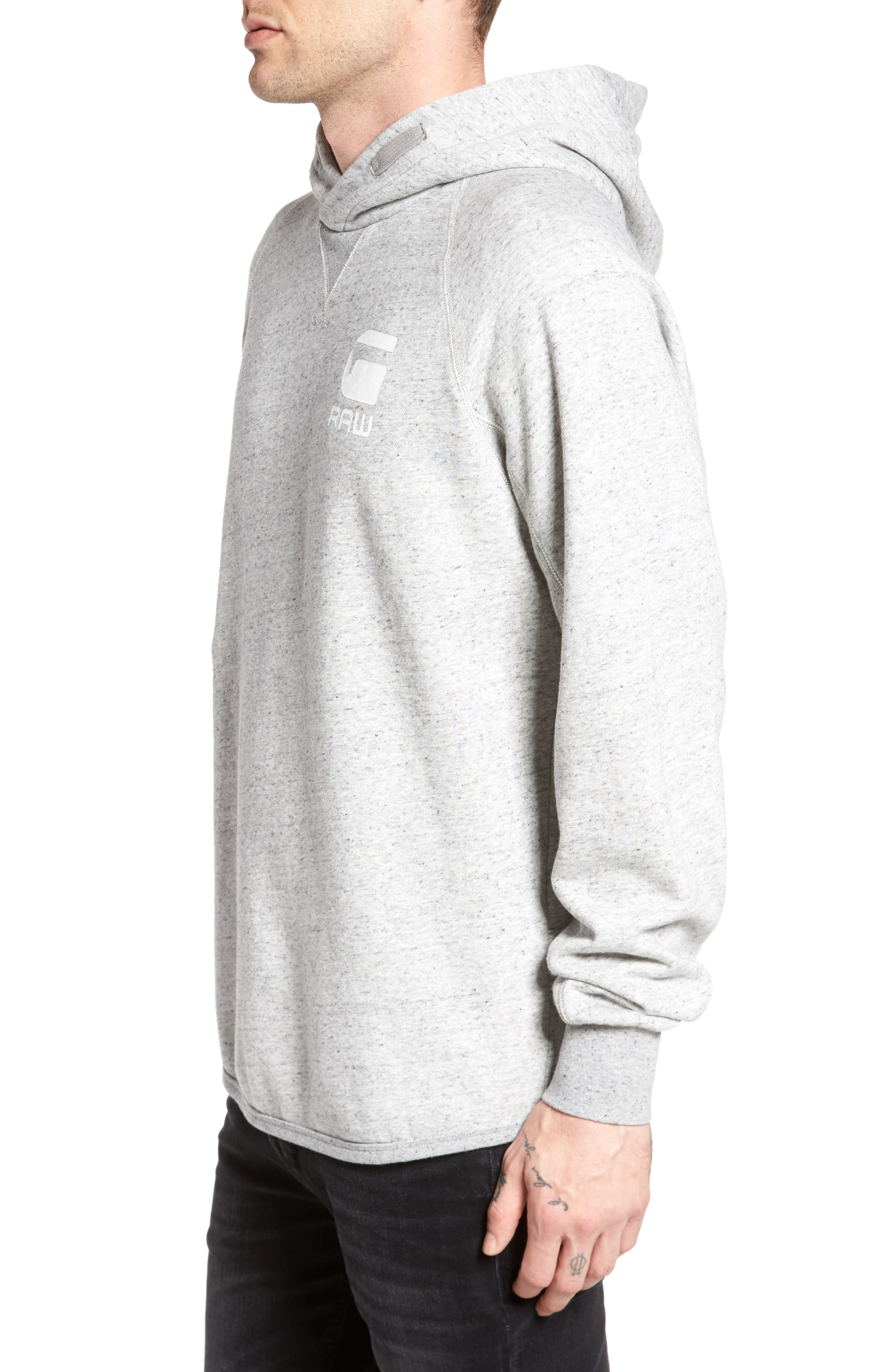 Callow Pullover Hoodie,                             Alternate thumbnail 3, color,                             Grey Heather