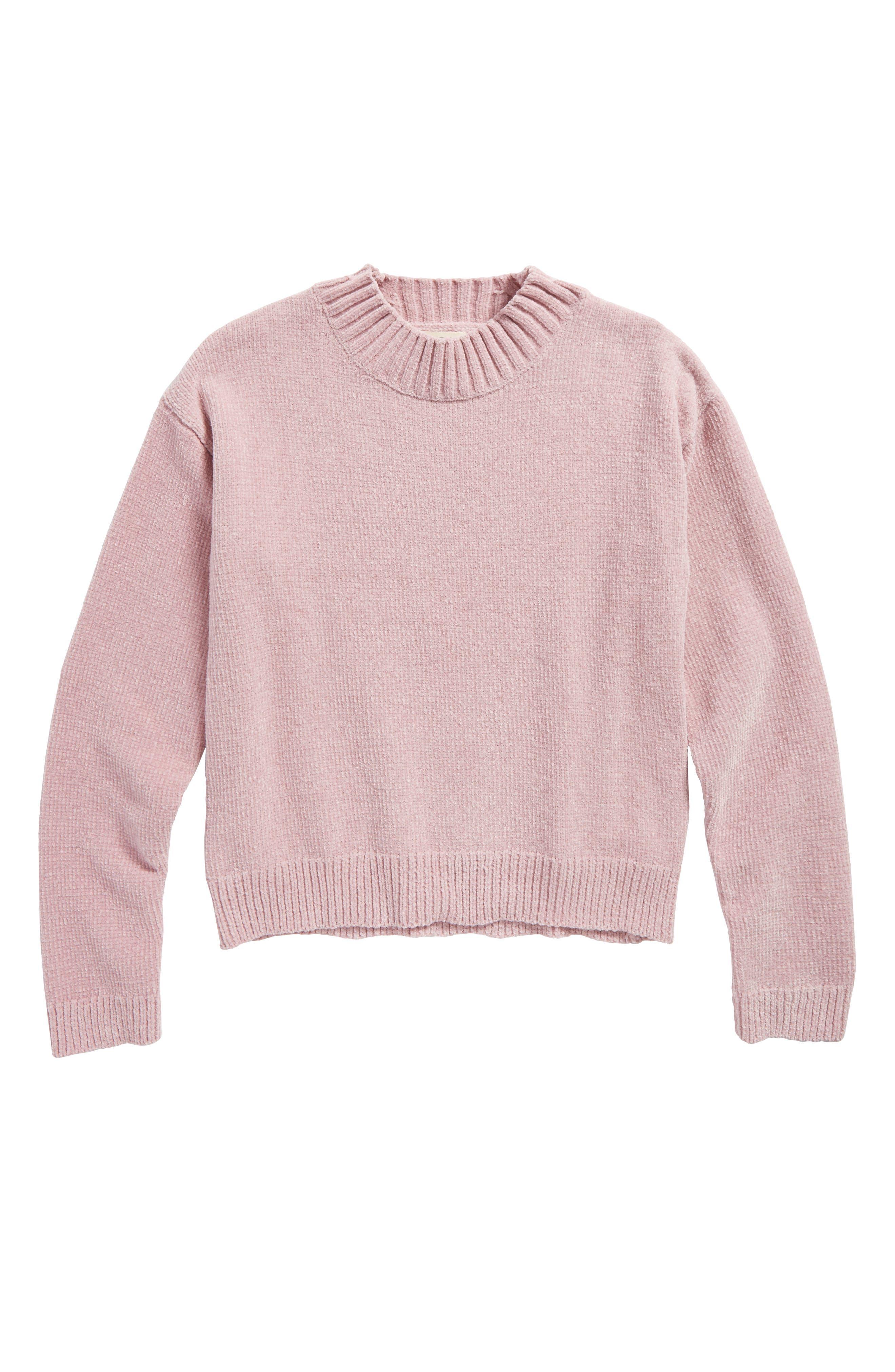 Alternate Image 1 Selected - Tucker + Tate Chenille Mock Neck Sweater (Big Girls)