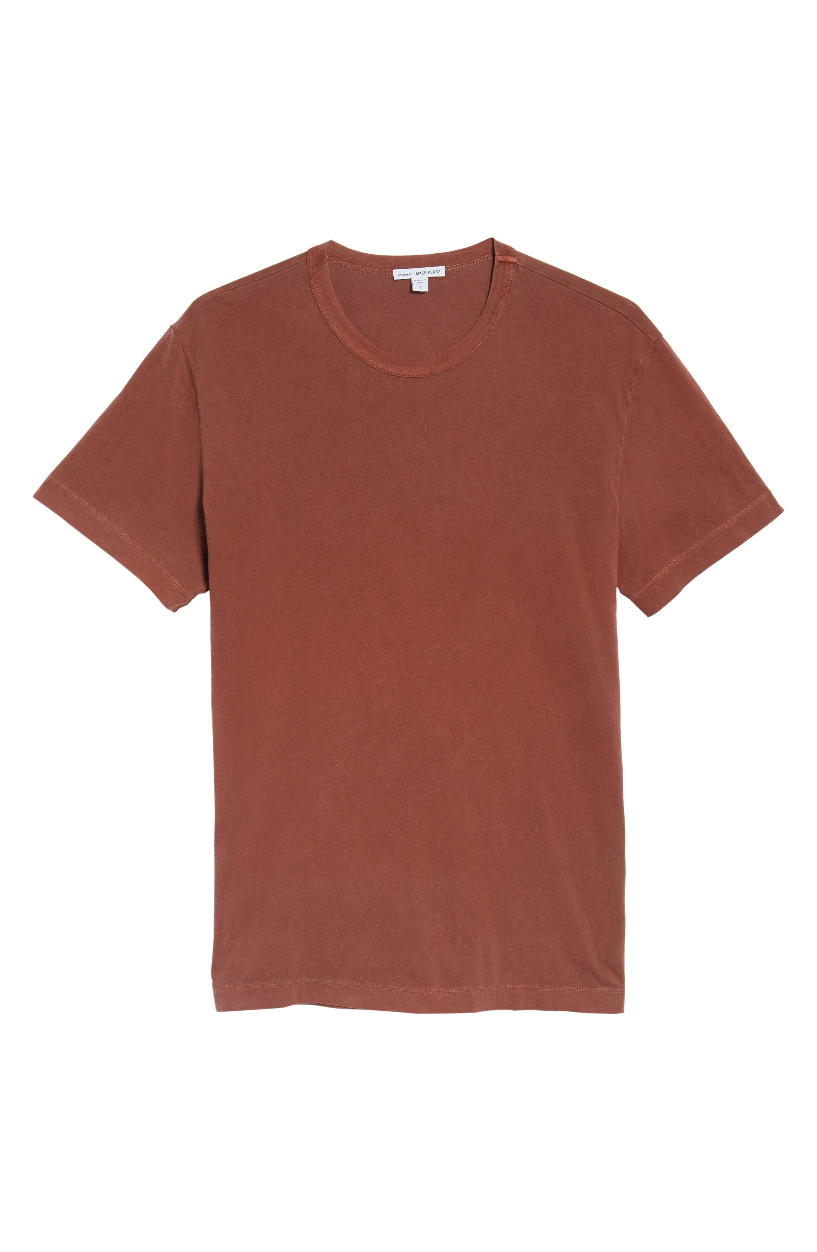 Crewneck Jersey T-Shirt,                             Alternate thumbnail 6, color,                             Red Clay