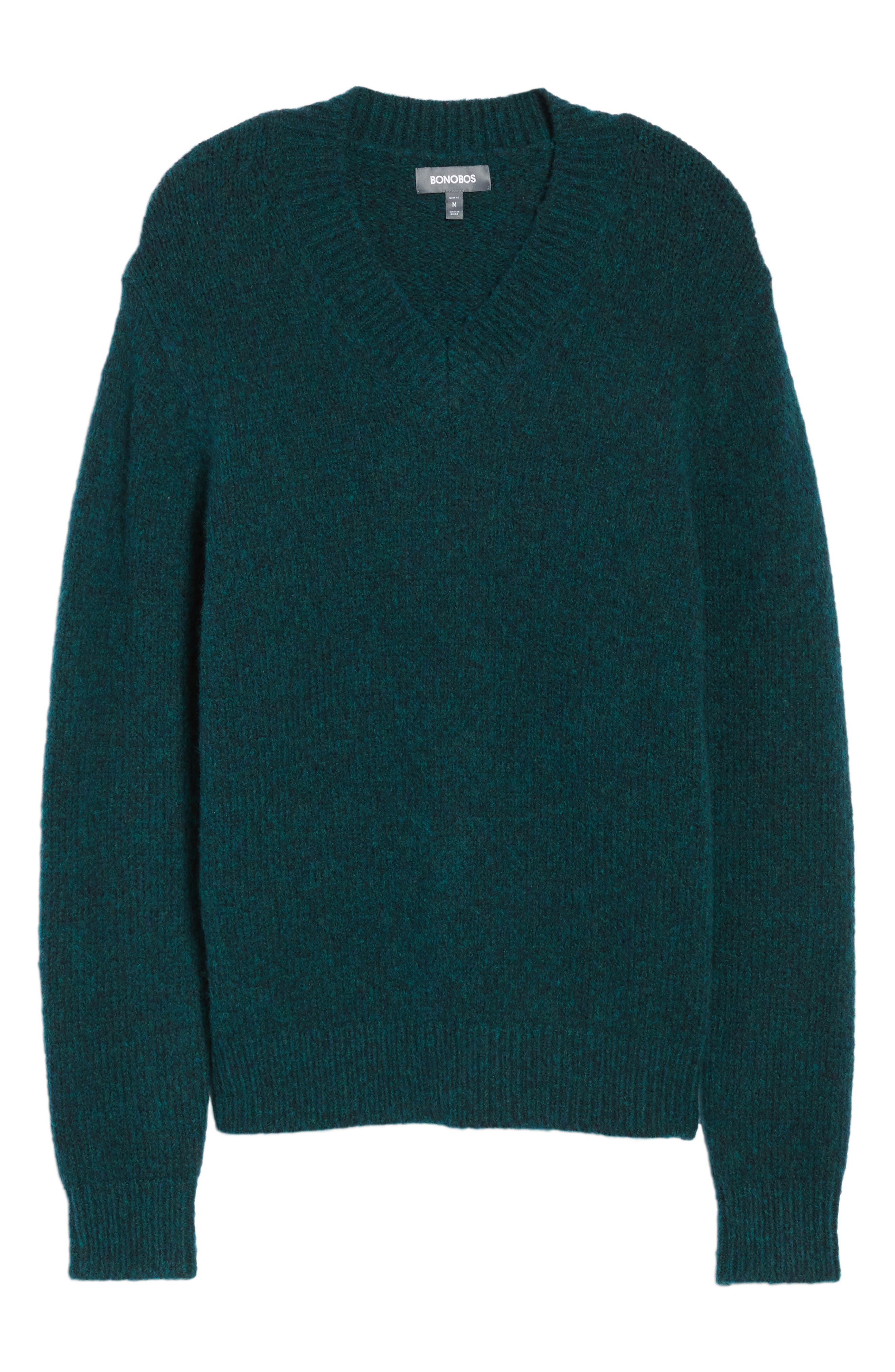 Alternate Image 6  - Bonobos Fuzzy Deep V-Neck Wool Blend Sweater