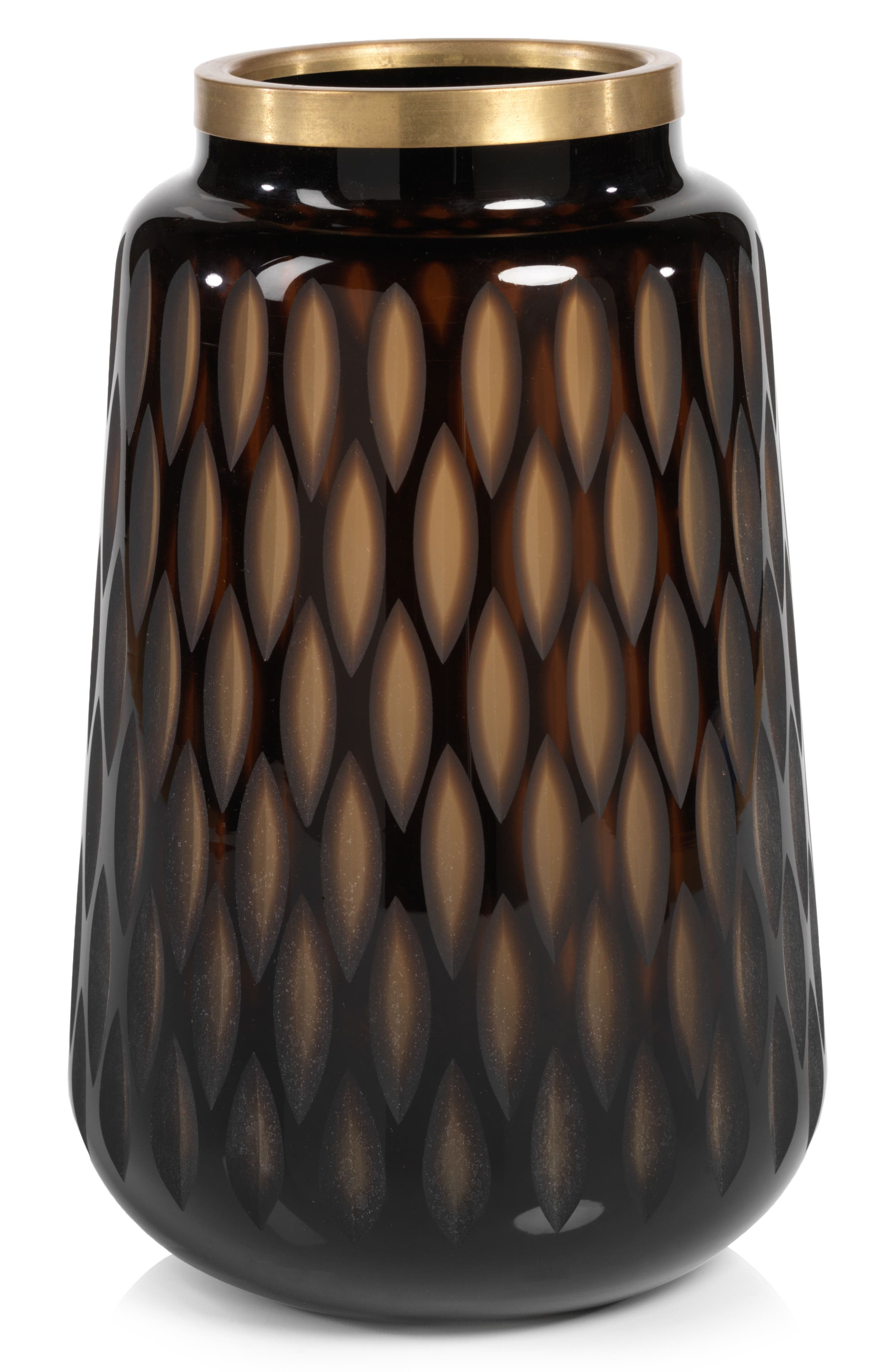 Thibo Amber Glass Vase,                         Main,                         color, Amber