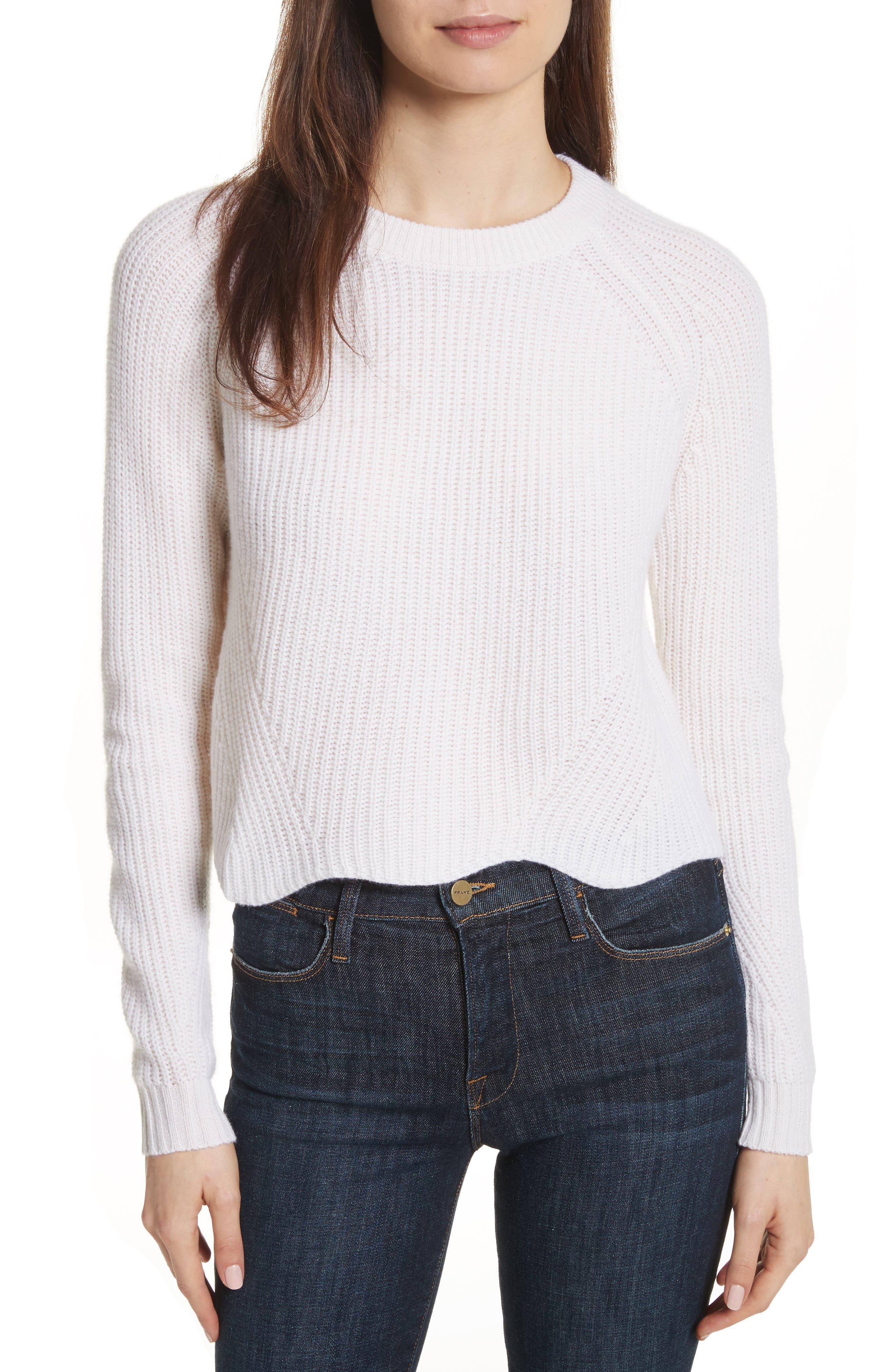 Main Image - autumn cashmere Cashmere Scalloped Shaker Sweater