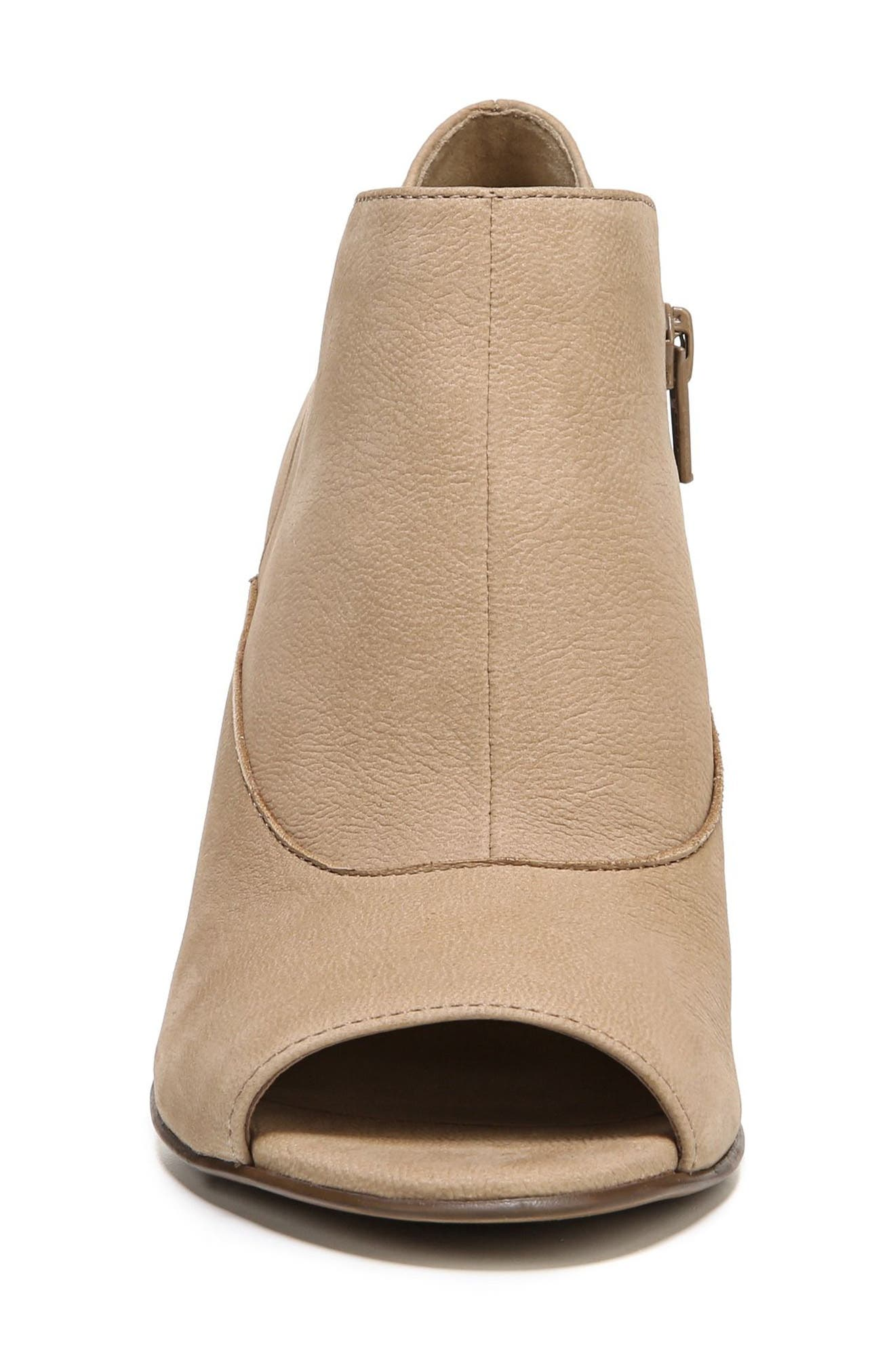 Skylar Open Toe Bootie,                             Alternate thumbnail 4, color,                             Barley Nubuck