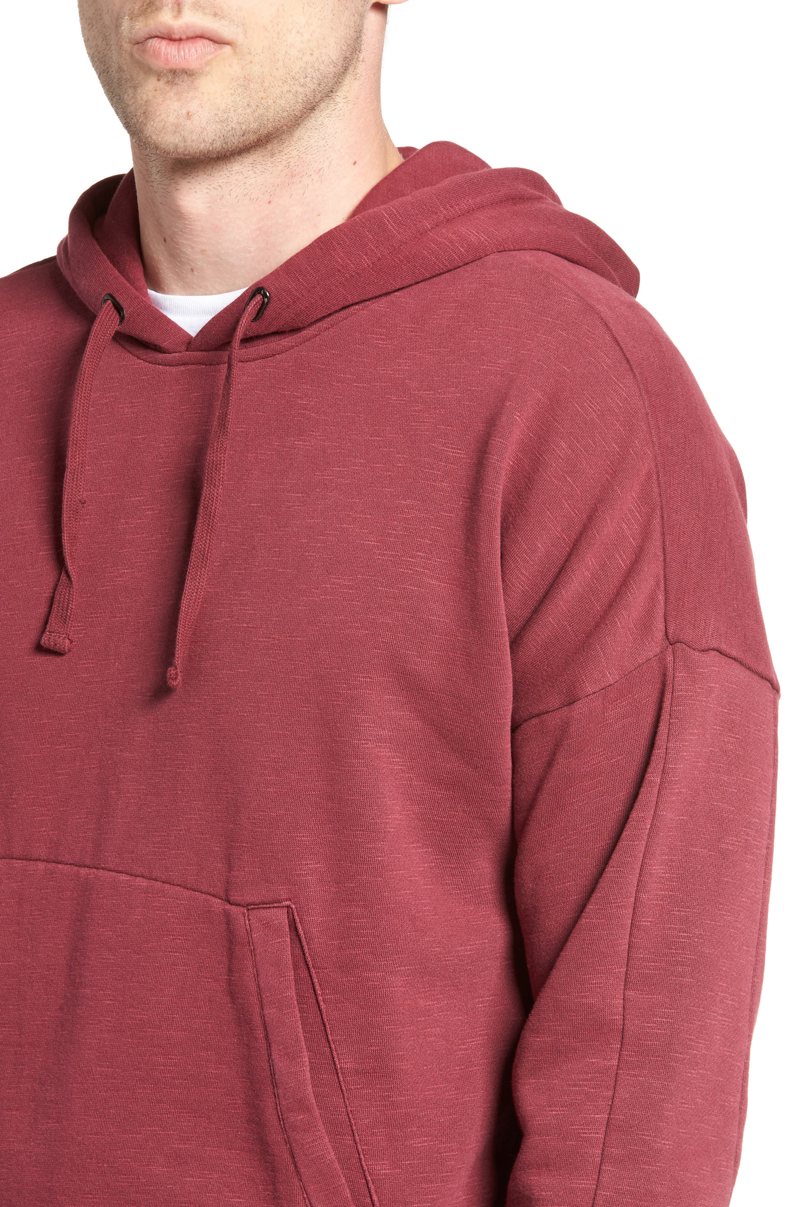 Turf Hooded Sweatshirt,                             Alternate thumbnail 4, color,                             Rosewood