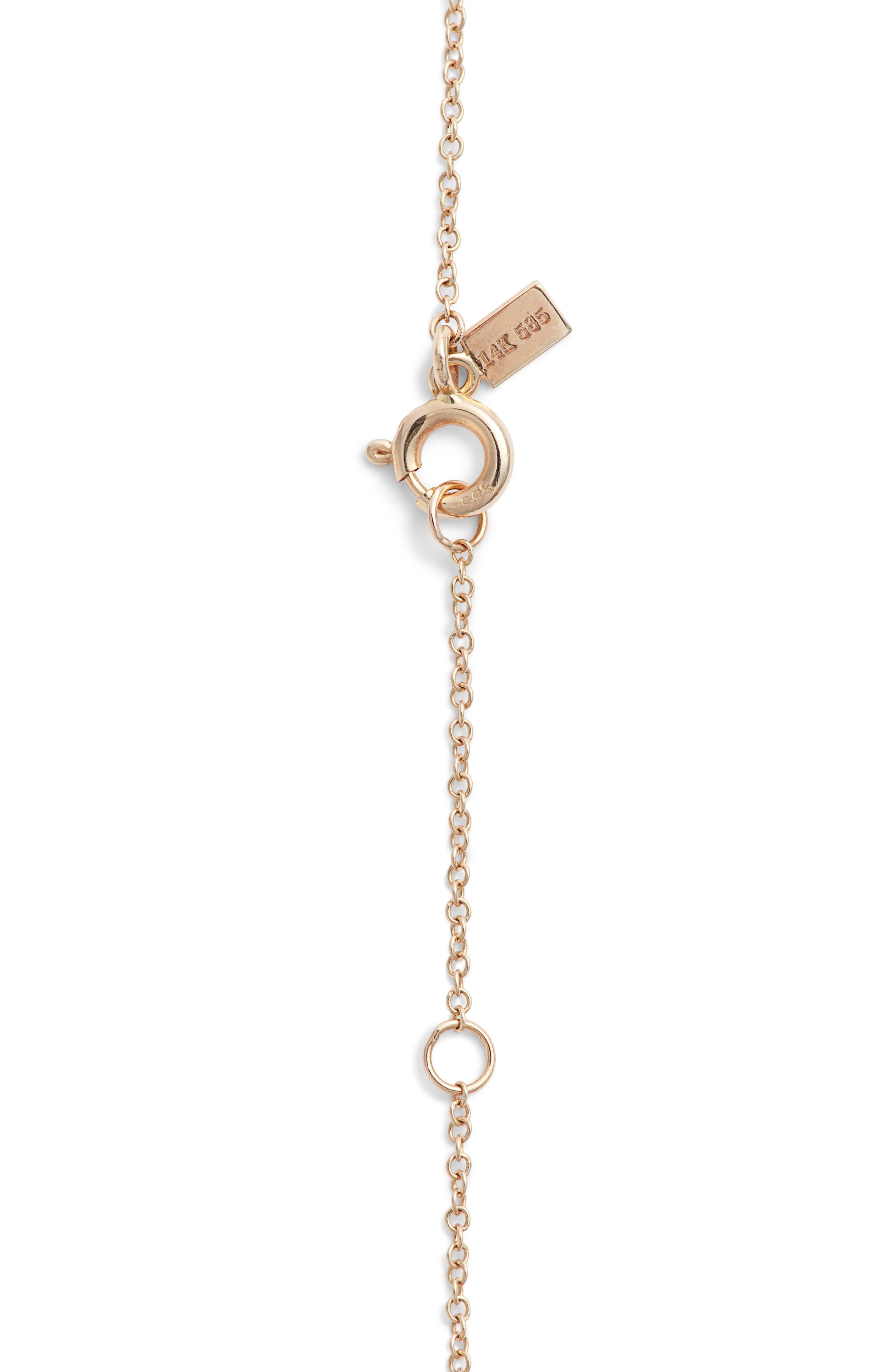 Alternate Image 5  - EF COLLECTION Mini Diamond Pendant Necklace