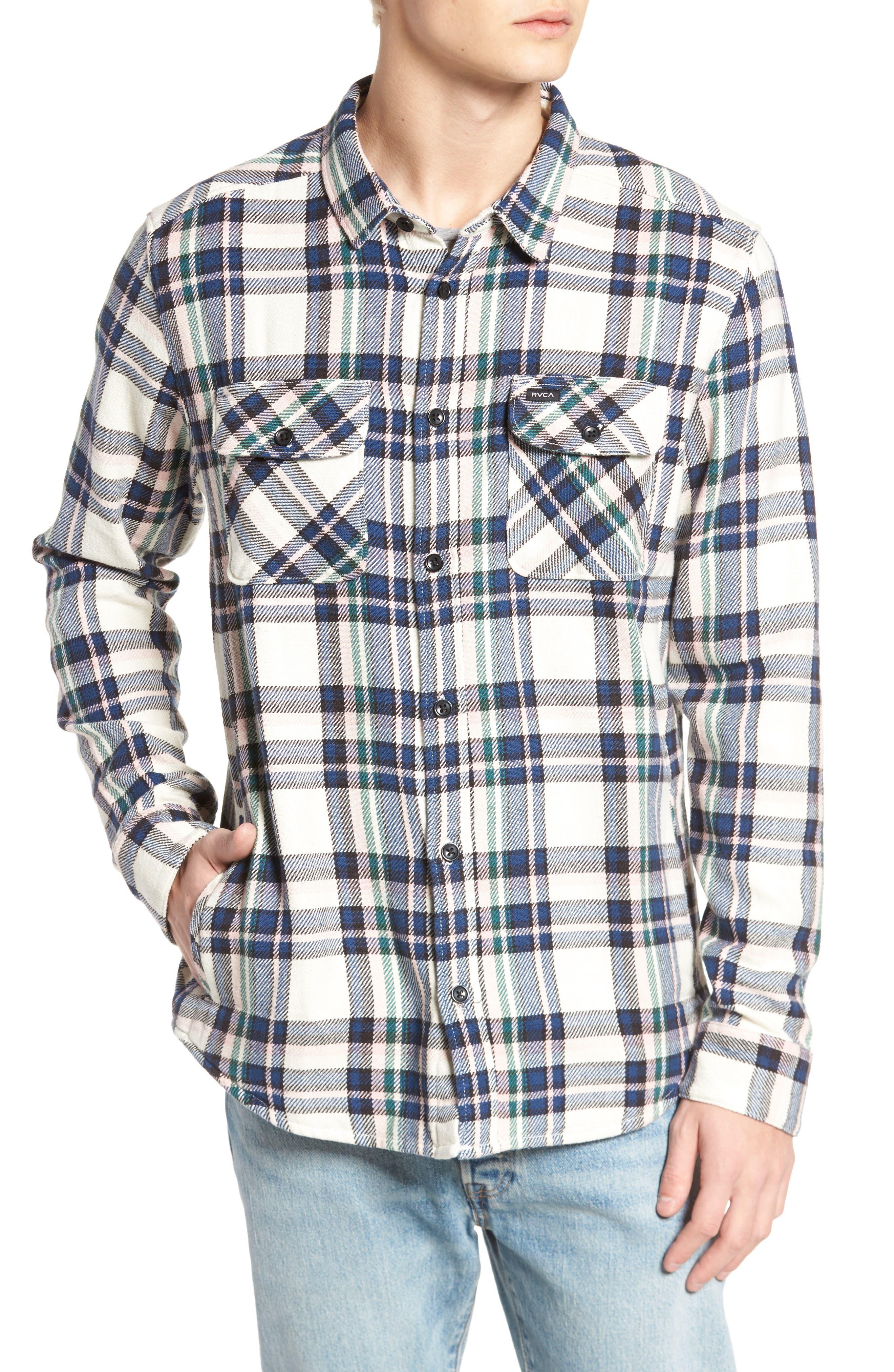 Camino Flannel Shirt,                             Alternate thumbnail 4, color,                             Multi Beige