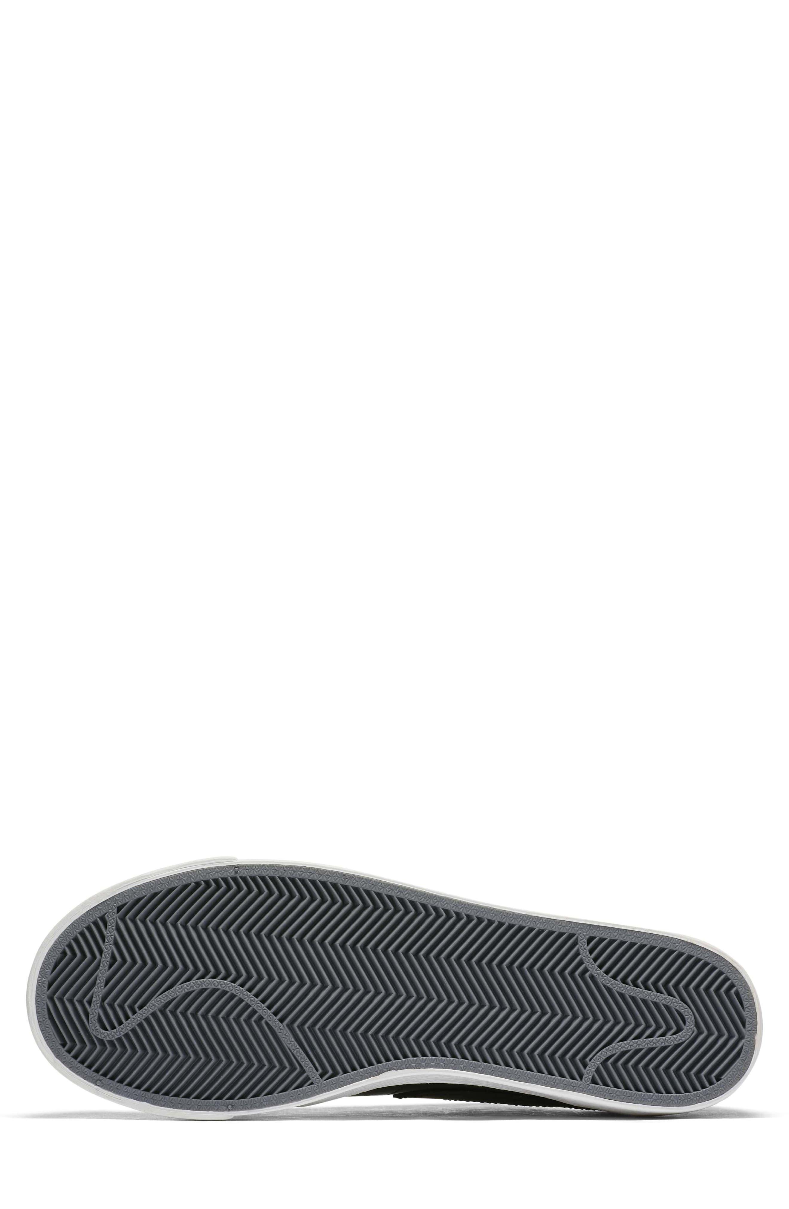 Blazer Low Top Sneaker SE,                             Alternate thumbnail 6, color,                             Black/ Black Reflect Silver