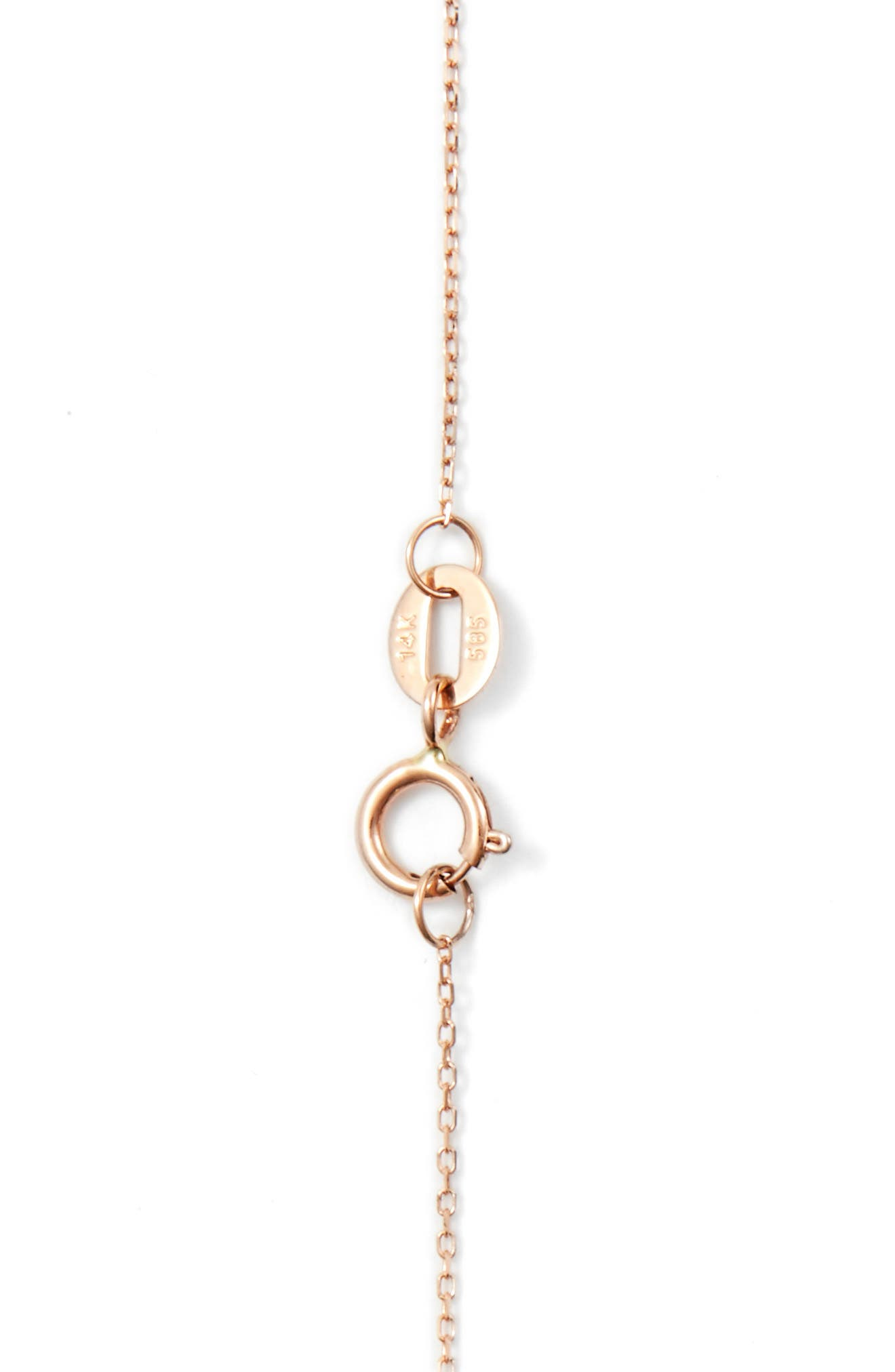 'Katie' Diamond Bar Pendant Necklace,                             Alternate thumbnail 5, color,                             Rose Gold