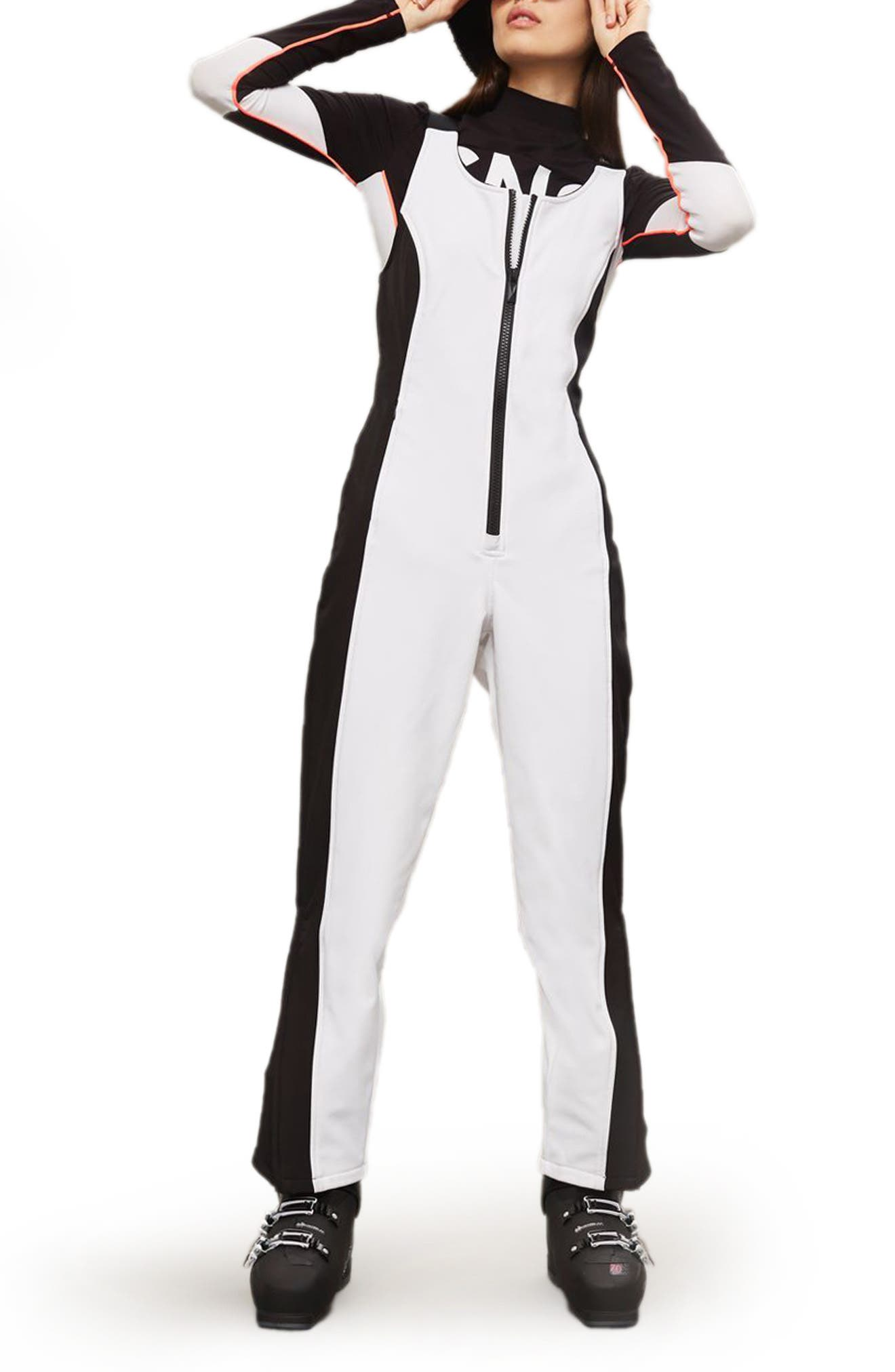 SNO Shadow Jumpsuit,                             Main thumbnail 1, color,                             White