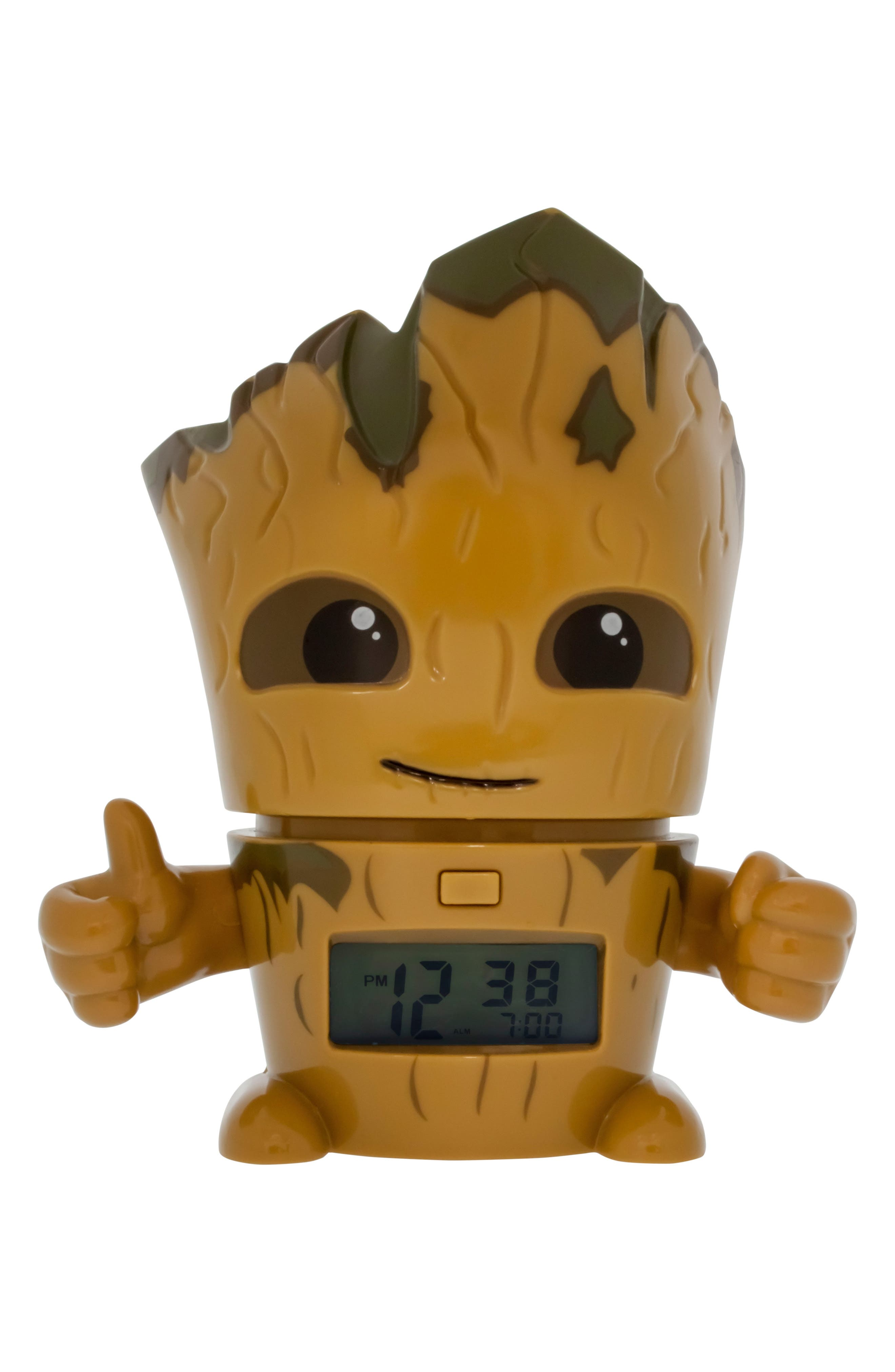 Baby Groot Night-Light/Alarm Clock,                             Main thumbnail 1, color,                             Brown