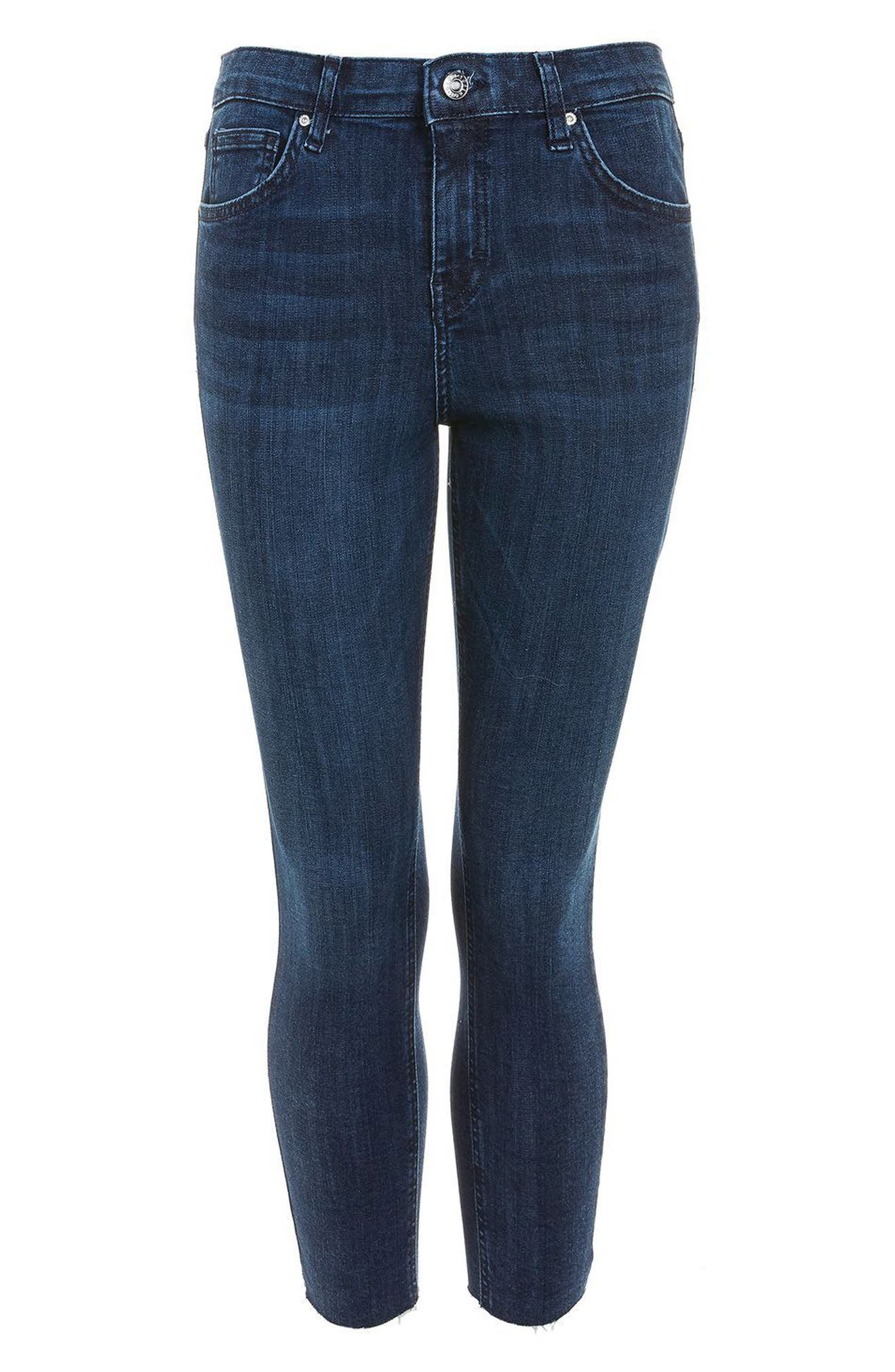 Jamie High Waist Skinny Jeans,                             Alternate thumbnail 3, color,                             Mid Denim