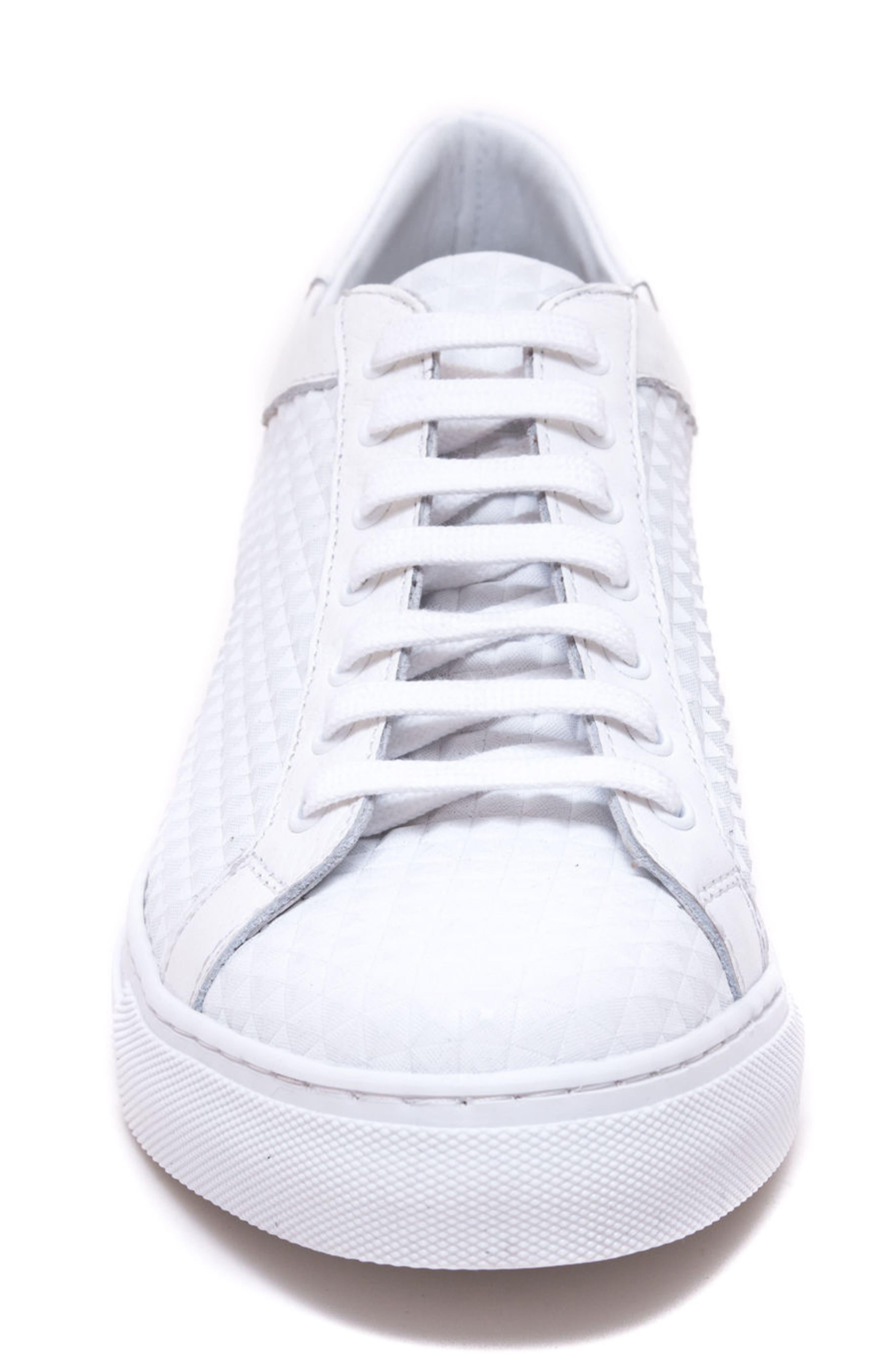 Scott Leather Sneaker,                             Alternate thumbnail 4, color,                             White