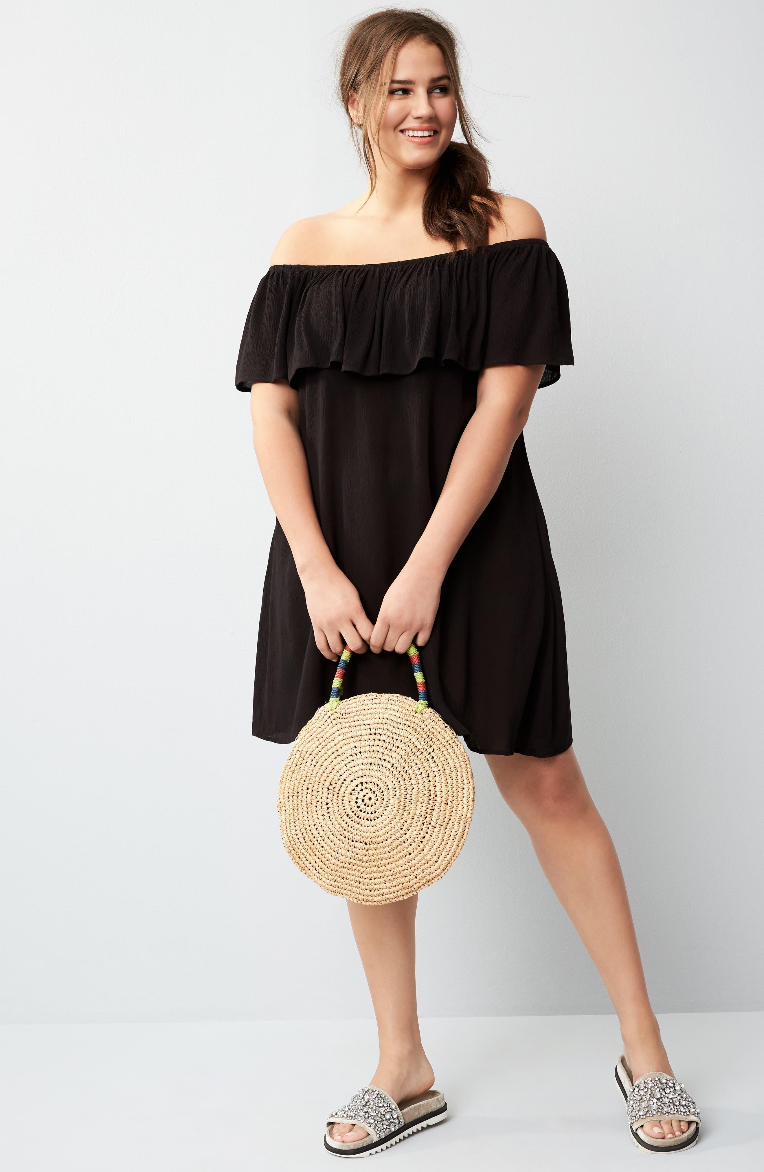 Alternate Image 7  - Becca Etc. Southern Belle Off the Shoulder Cover-Up Dress (Plus Size)