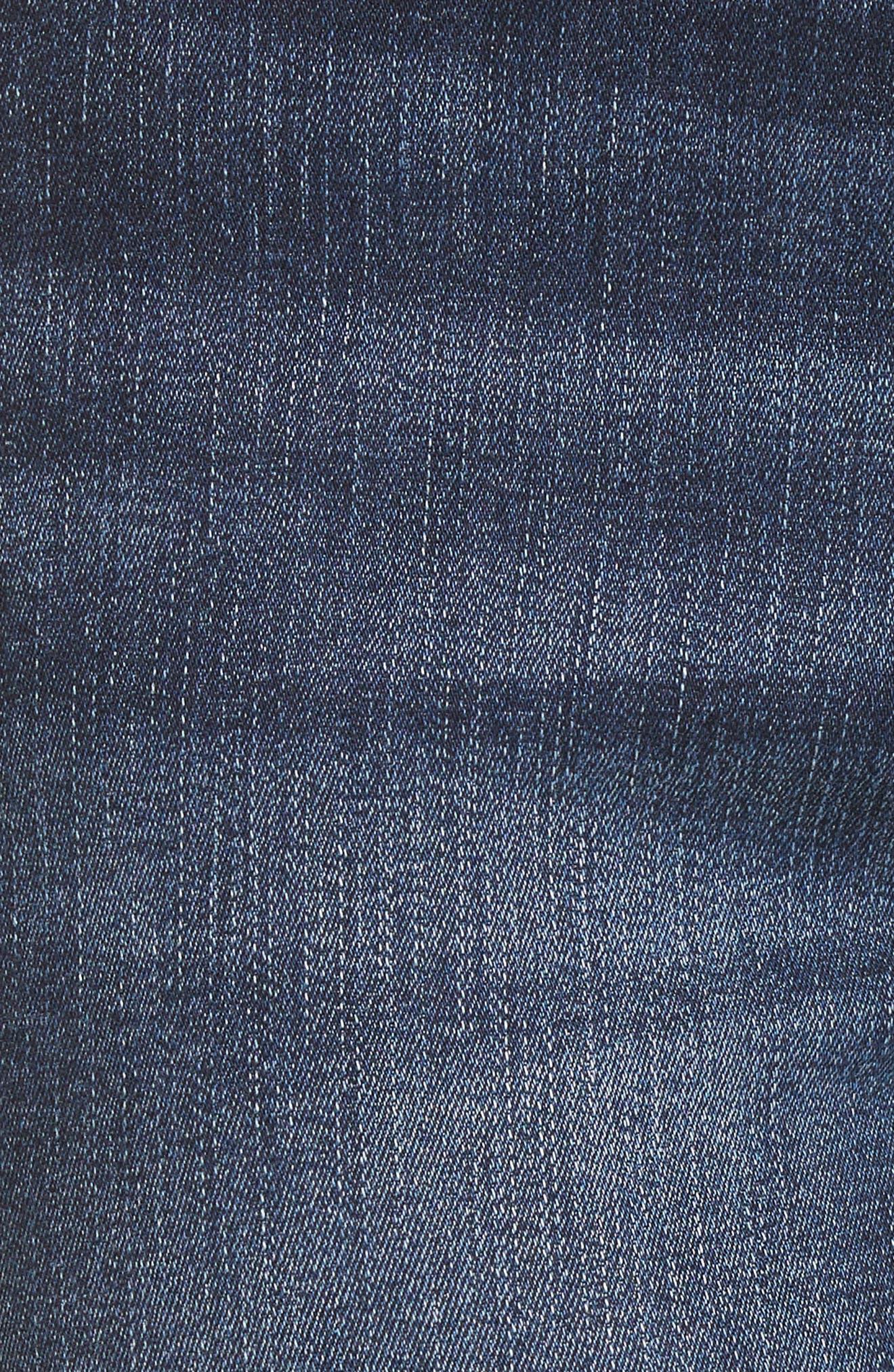 Carlie High Waist Ankle Skinny Jeans,                             Alternate thumbnail 7, color,                             Spritz