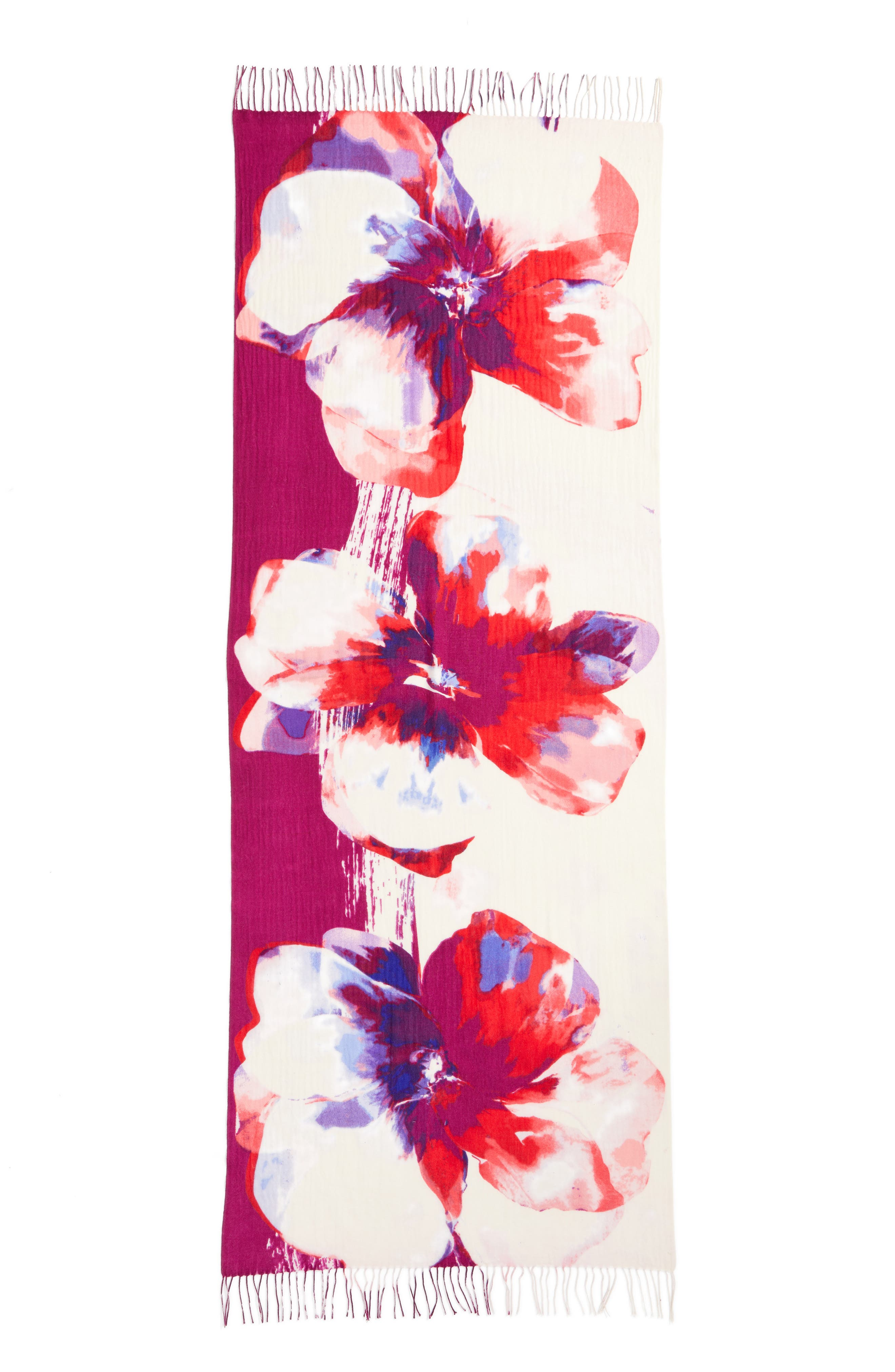 Alternate Image 3  - Nordstrom Tissue Print Wool & Cashmere Wrap Scarf