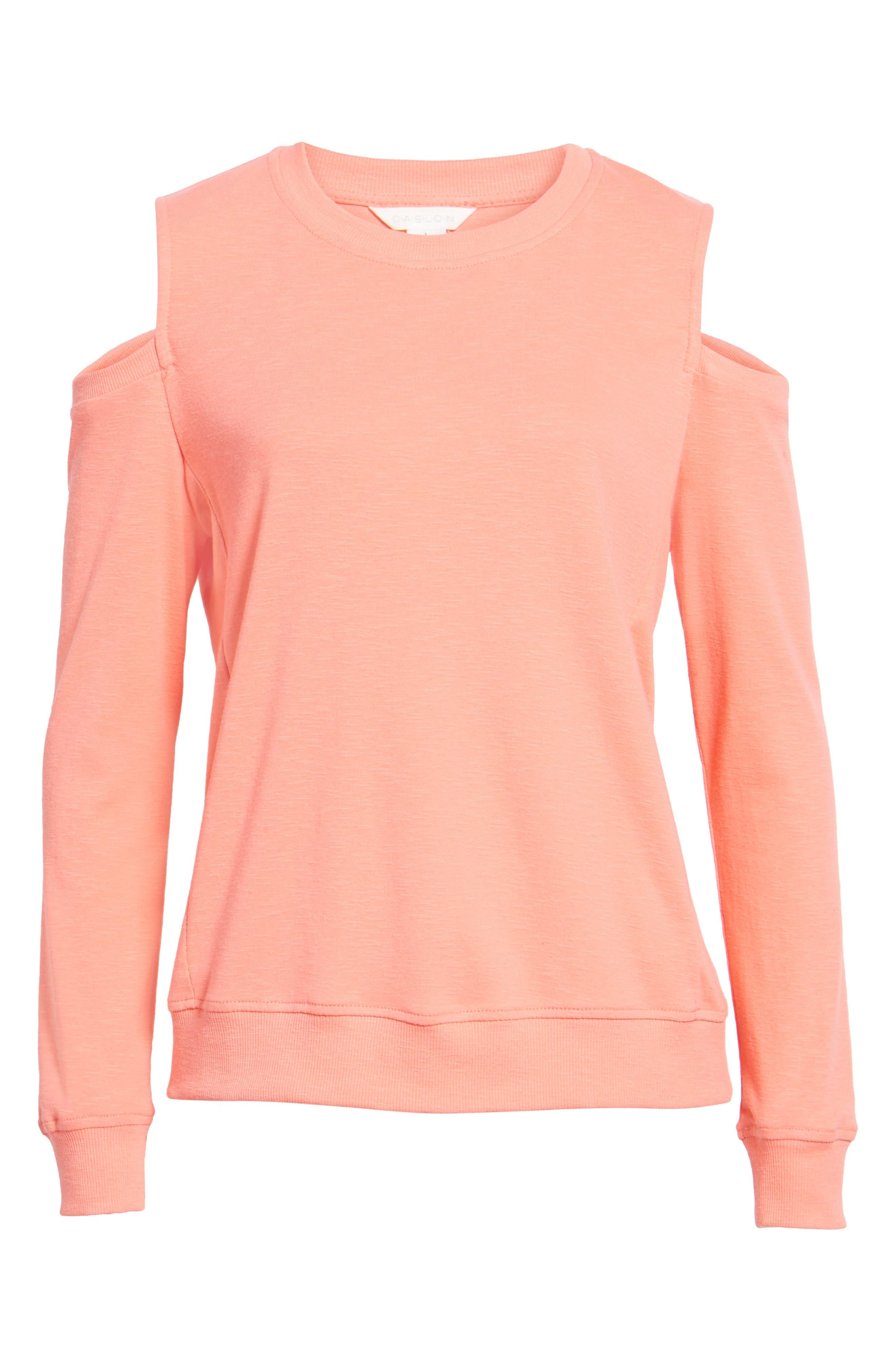 Caslon® Cold Shoulder Knit Top (Regular & Petite)