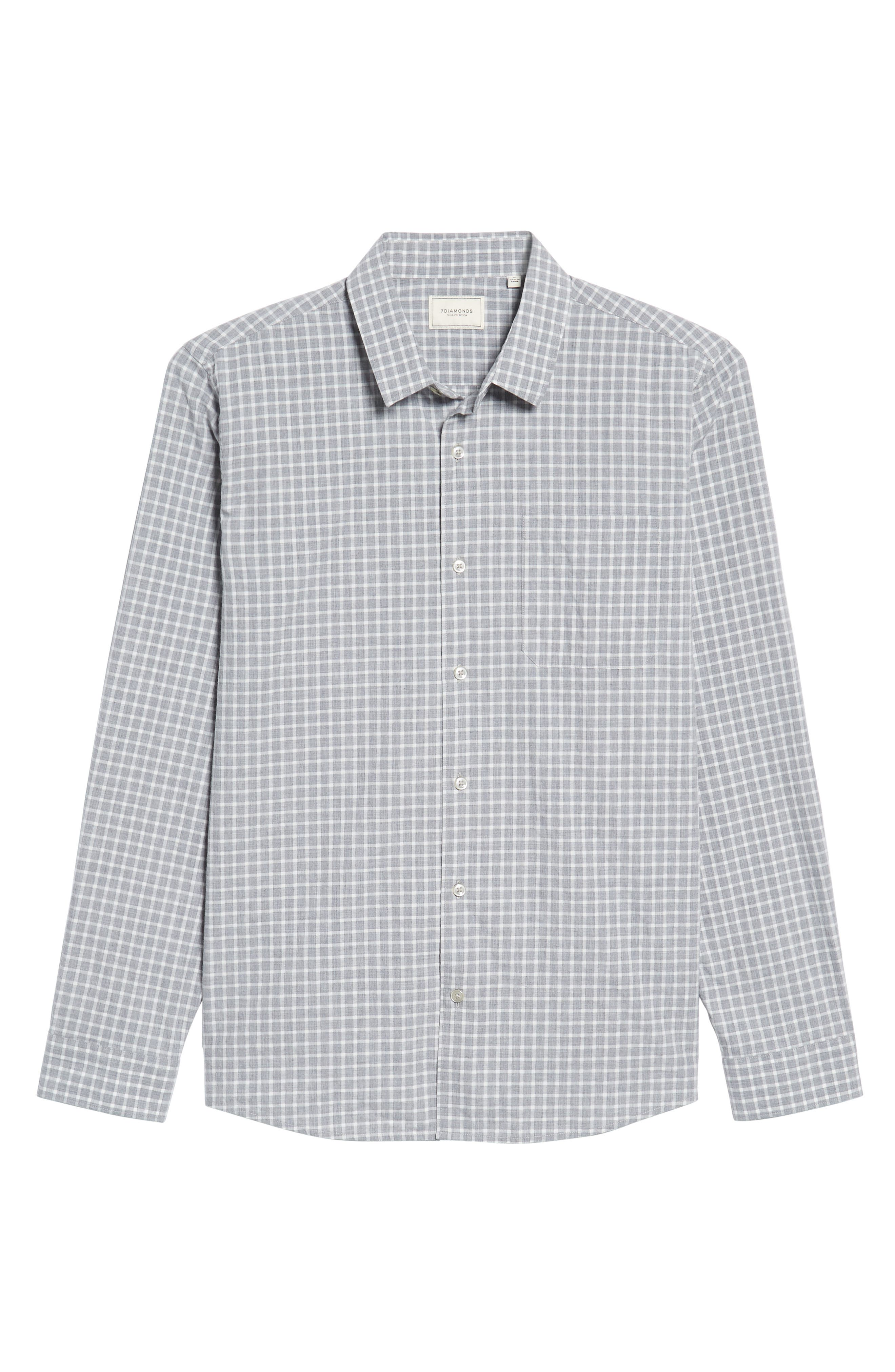 Illusions Woven Shirt,                             Alternate thumbnail 6, color,                             Lt. Grey