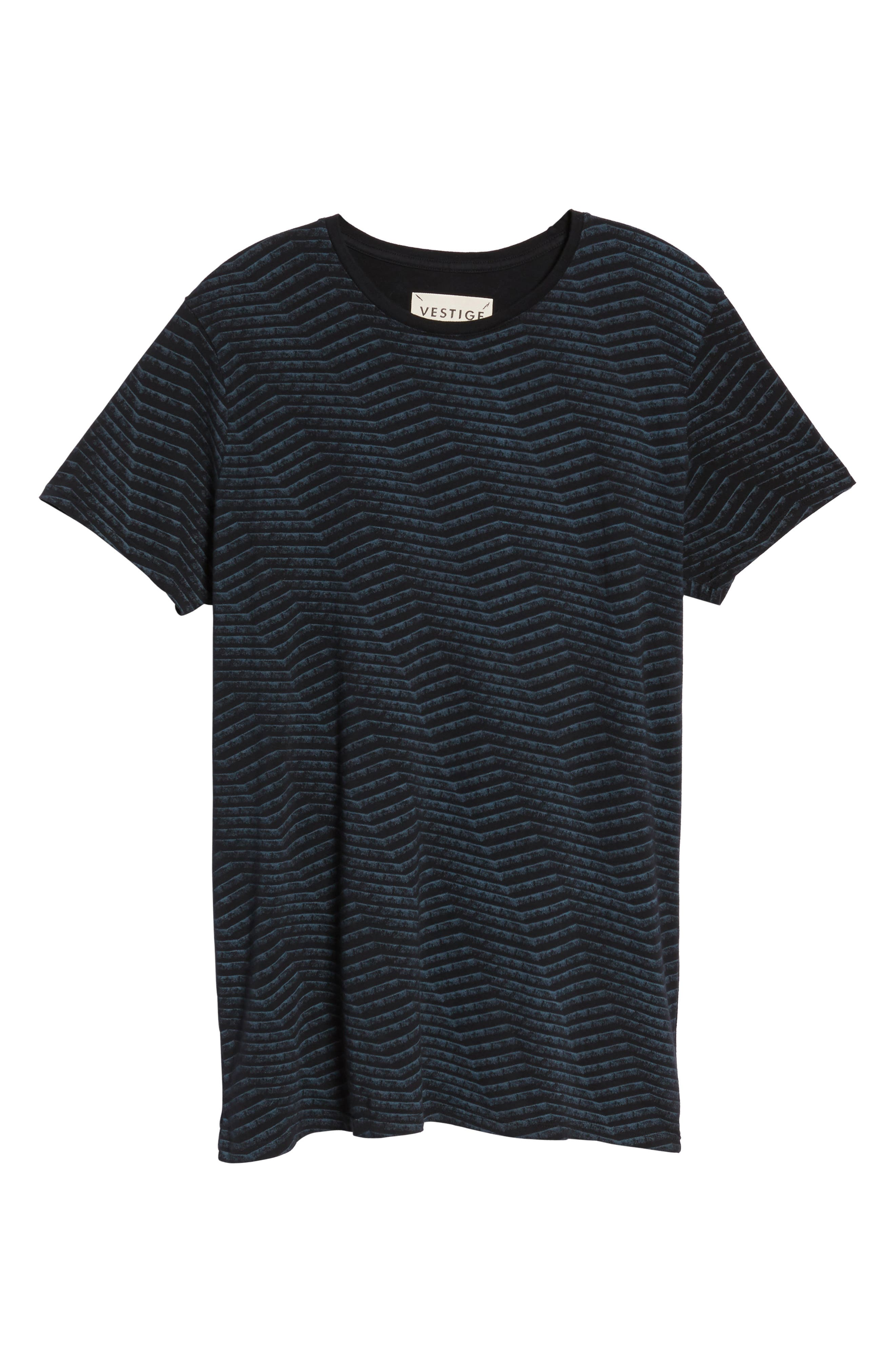 Chevron Stripe T-Shirt,                             Alternate thumbnail 6, color,                             Black