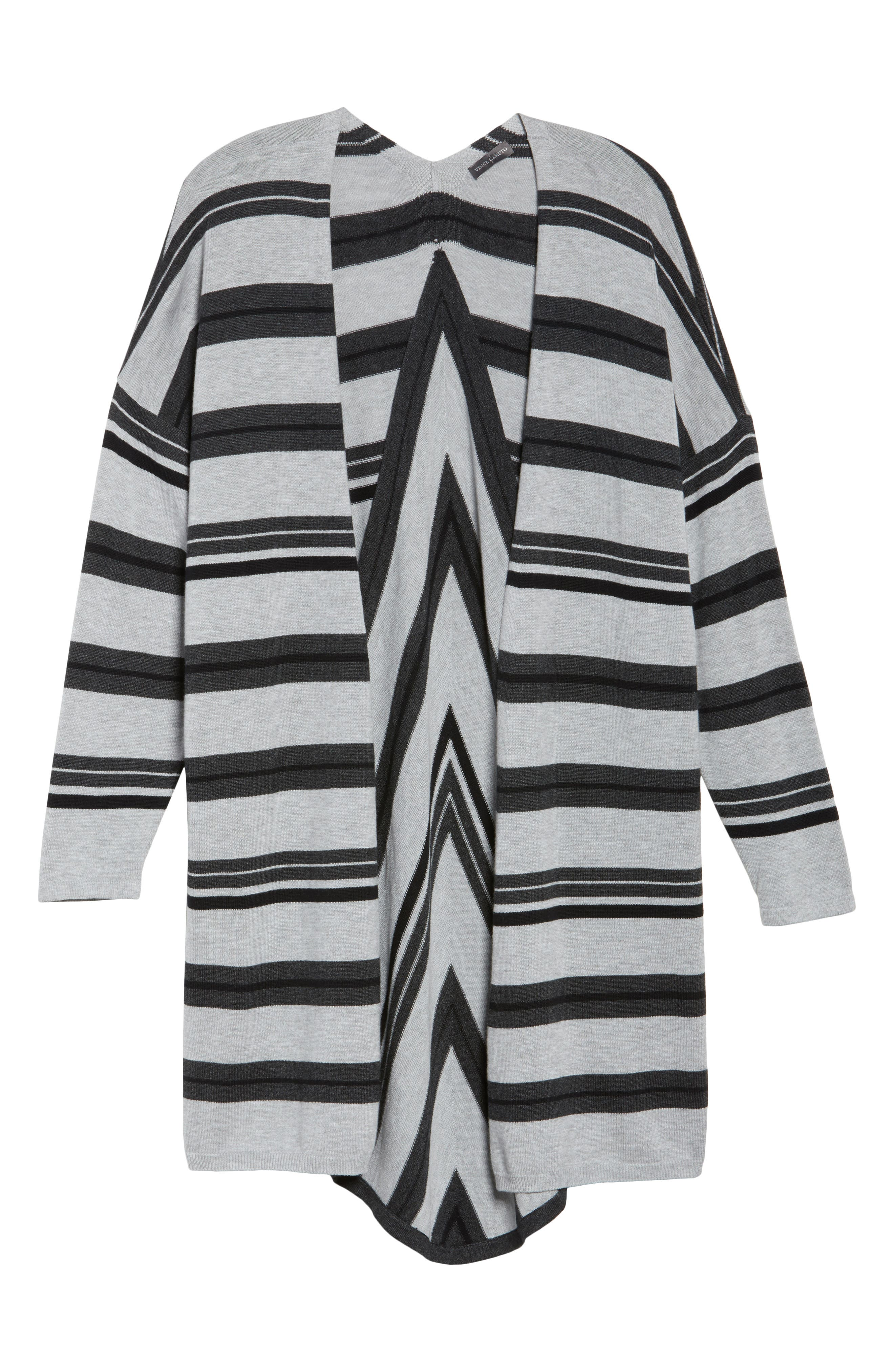Alternate Image 5  - Vince Camuto Long Stripe Cardigan (Plus Size)