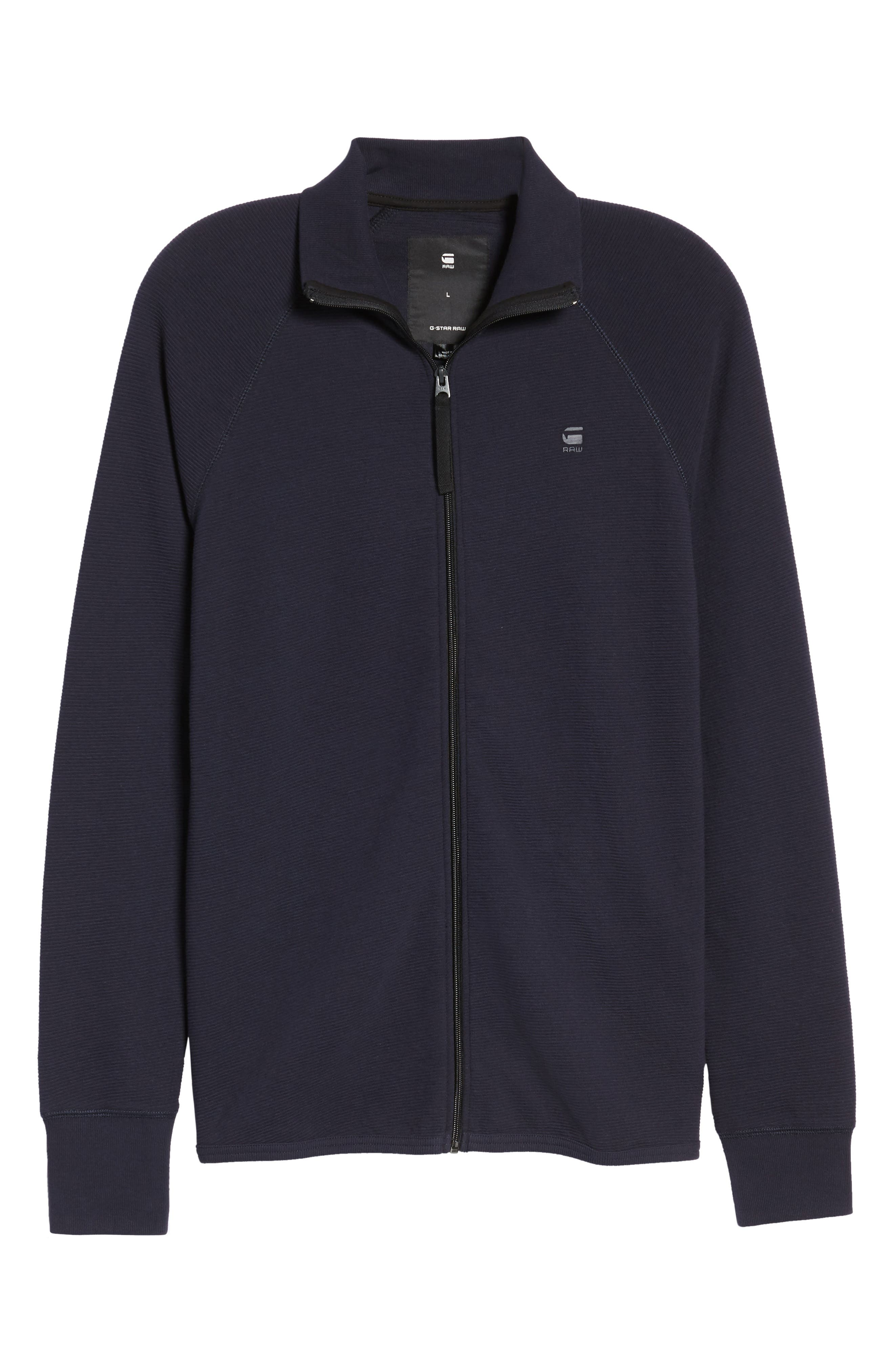 Jirgi Zip Front Jacket,                             Alternate thumbnail 6, color,                             Dark Naval Blue