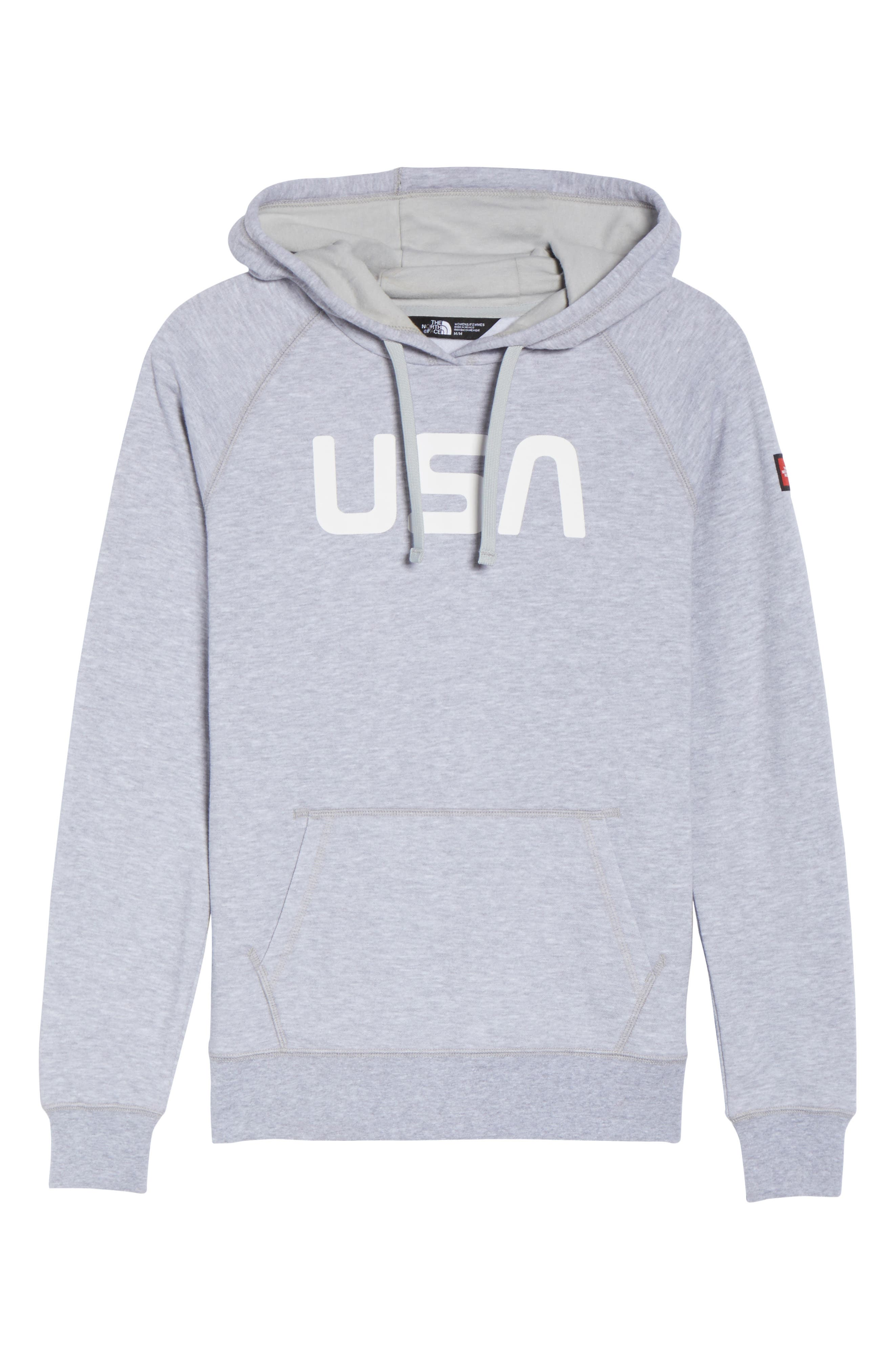 International Collection USA Pullover Hoodie,                             Alternate thumbnail 7, color,                             Tnf Light Grey Heather