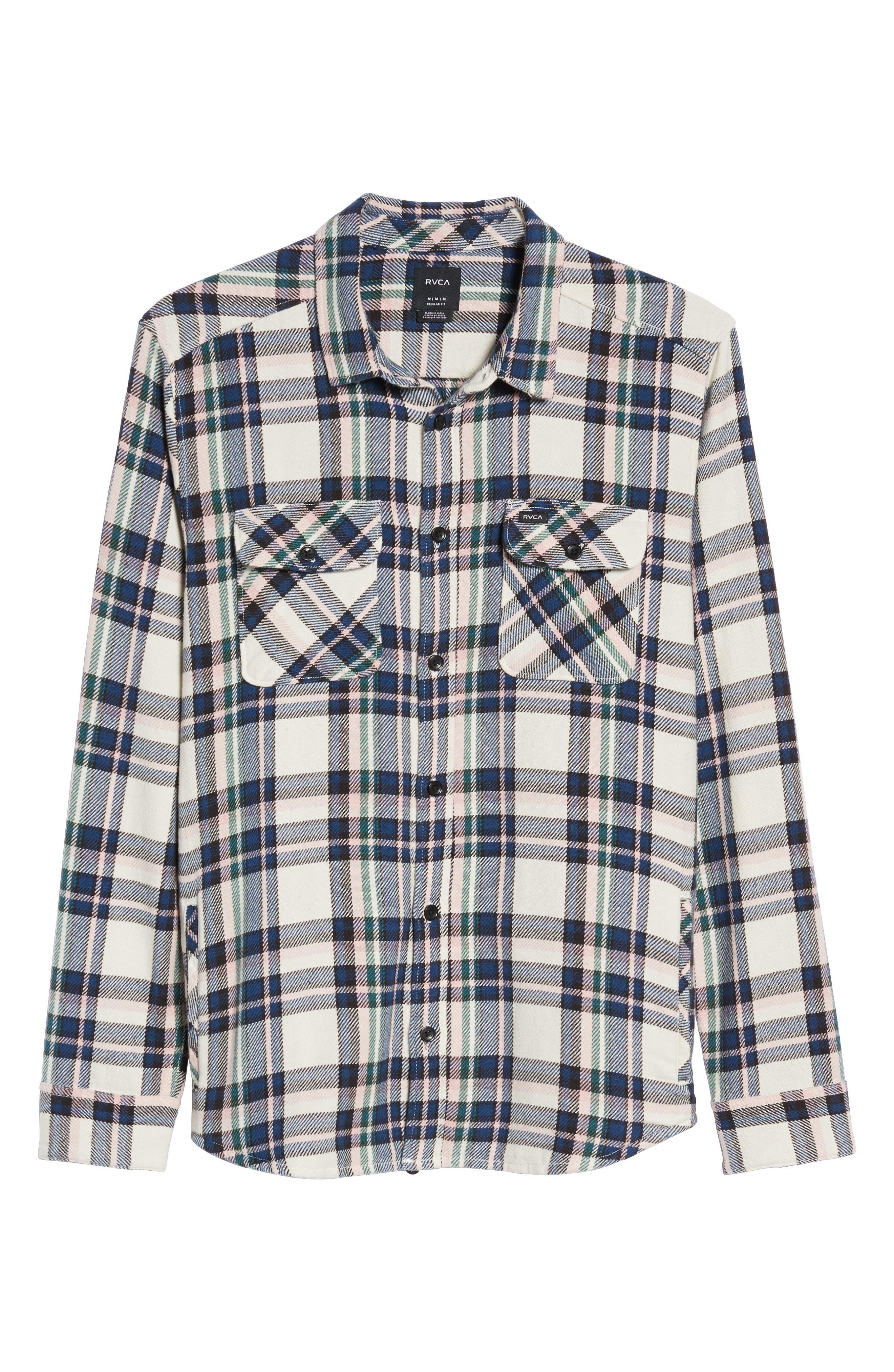 Camino Flannel Shirt,                             Alternate thumbnail 6, color,                             Multi Beige