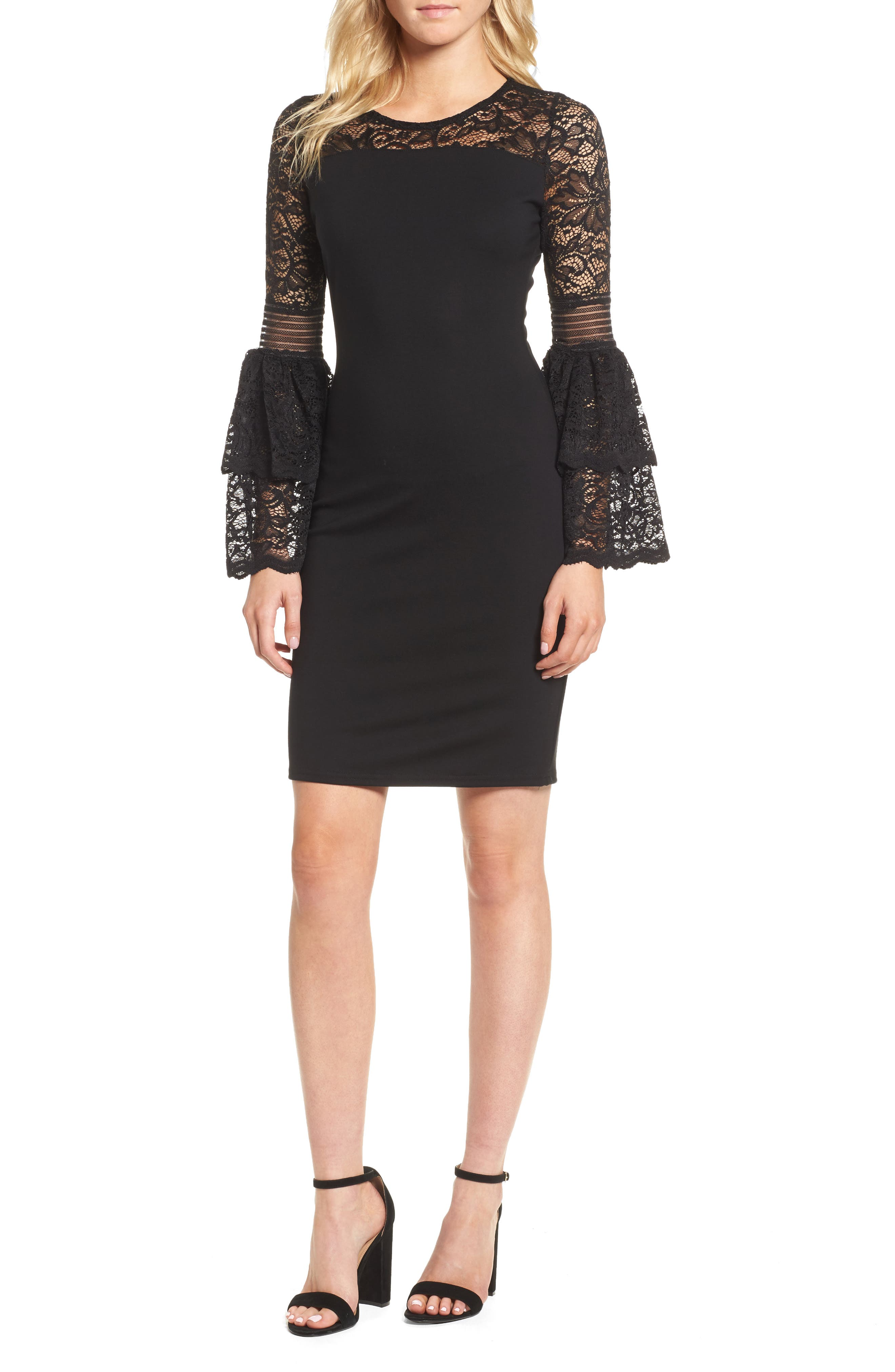 Sentimental NY Floetry Bell Sleeve Sheath Dress