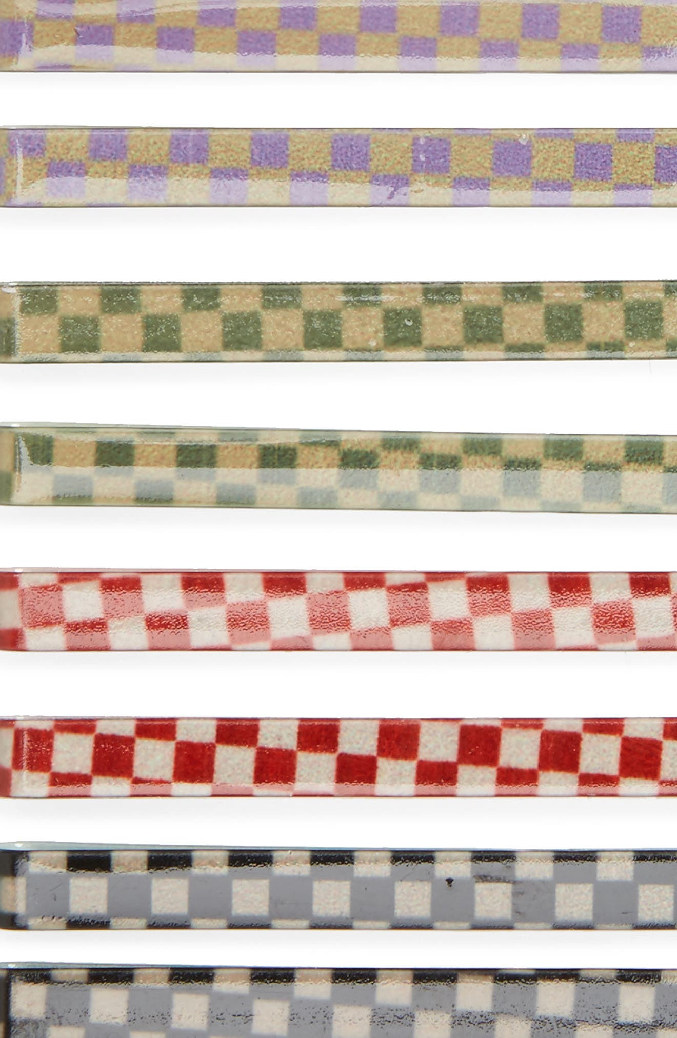 Multi Checkered Set of 8 Assorted Bobby Pins,                             Alternate thumbnail 3, color,                             Multi