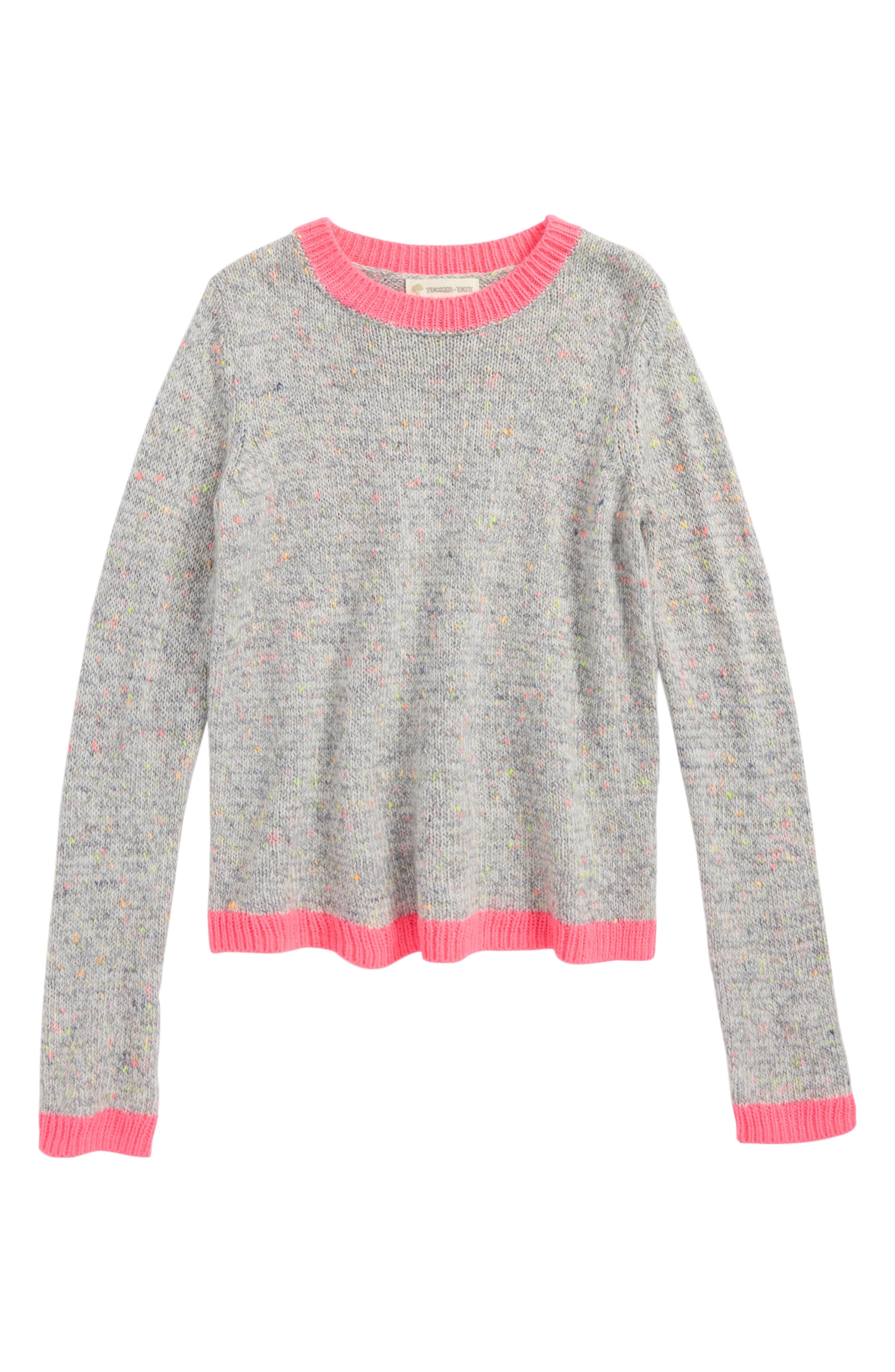 Color Block Pullover,                             Main thumbnail 1, color,                             Grey Heather