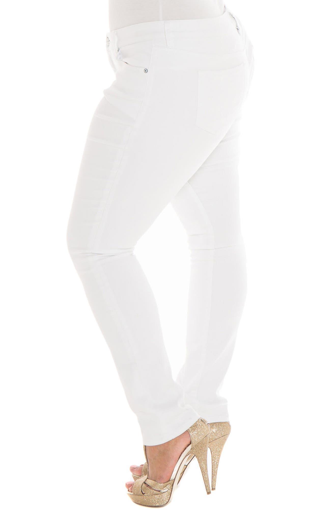 Alternate Image 4  - SLINK Jeans Skinny Jeans (Charlie) (Plus Size)