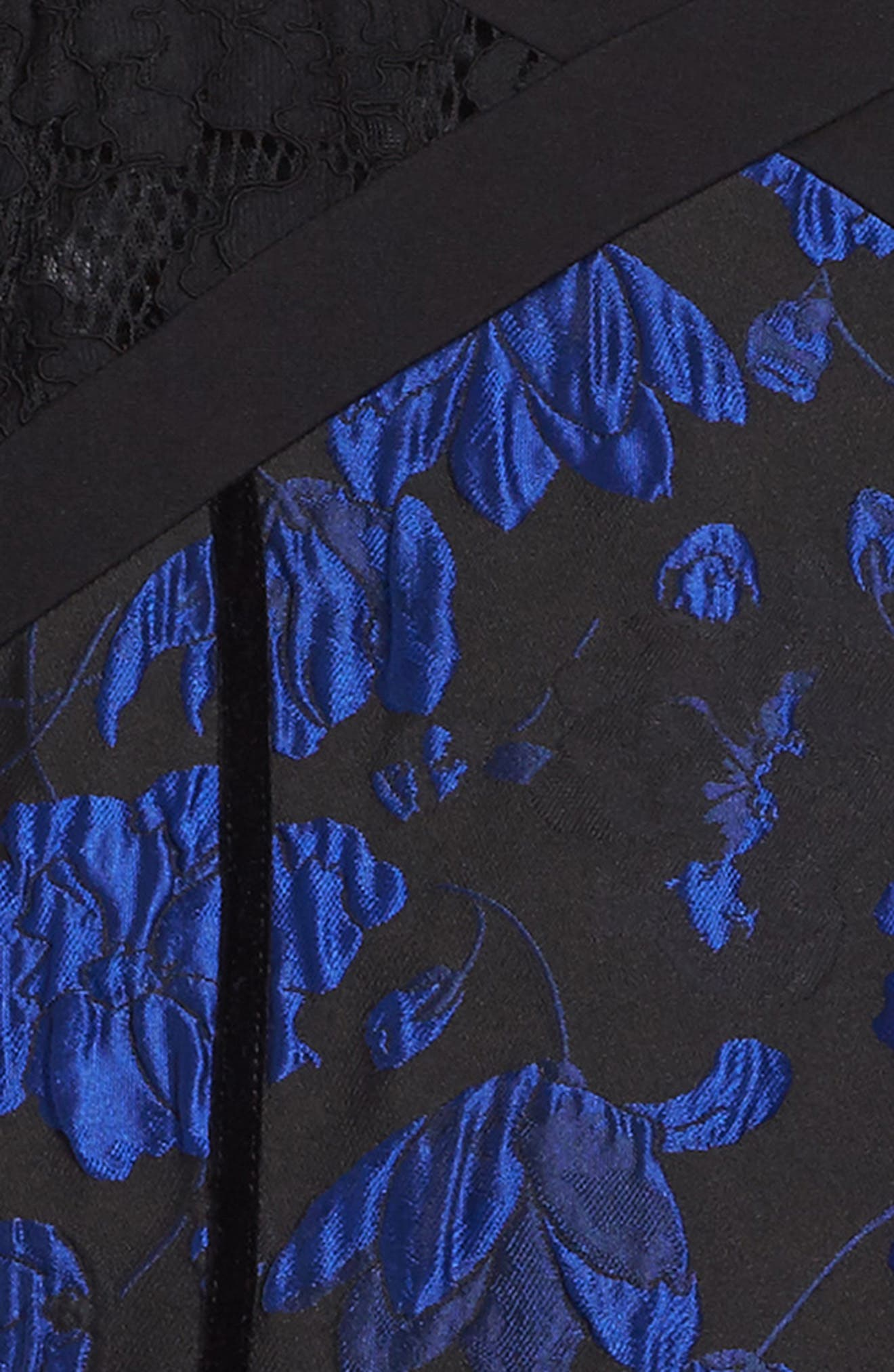 Alternate Image 3  - Tadashi Shoji Brocade Ruffle Dress (Toddler Girls, Little Girls & Big Girls)