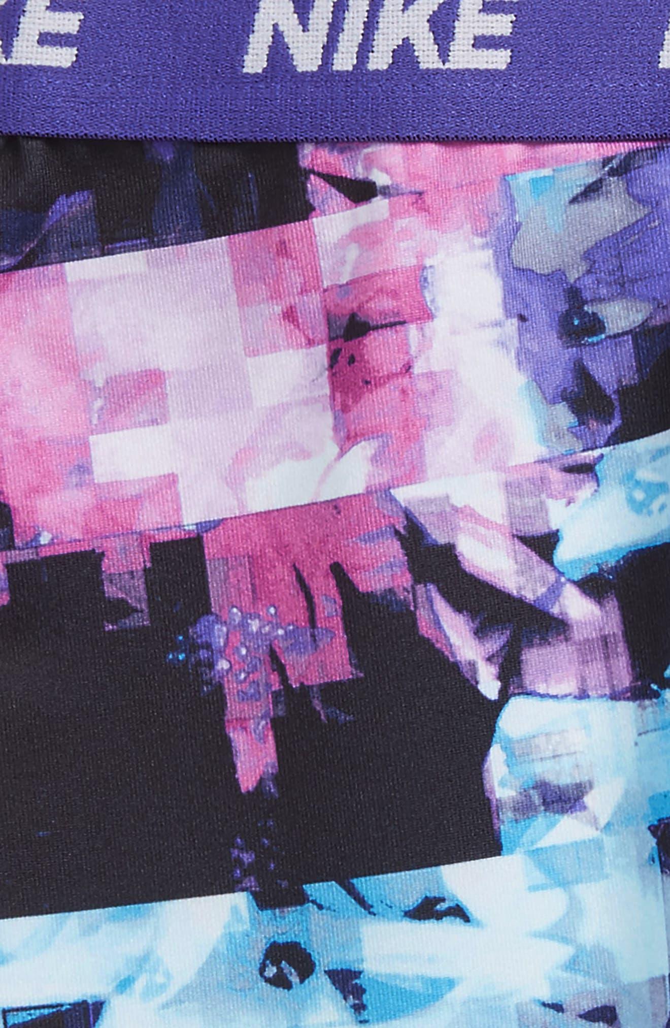 Dri-FIT Print Leggings,                             Alternate thumbnail 2, color,                             Purple Comet