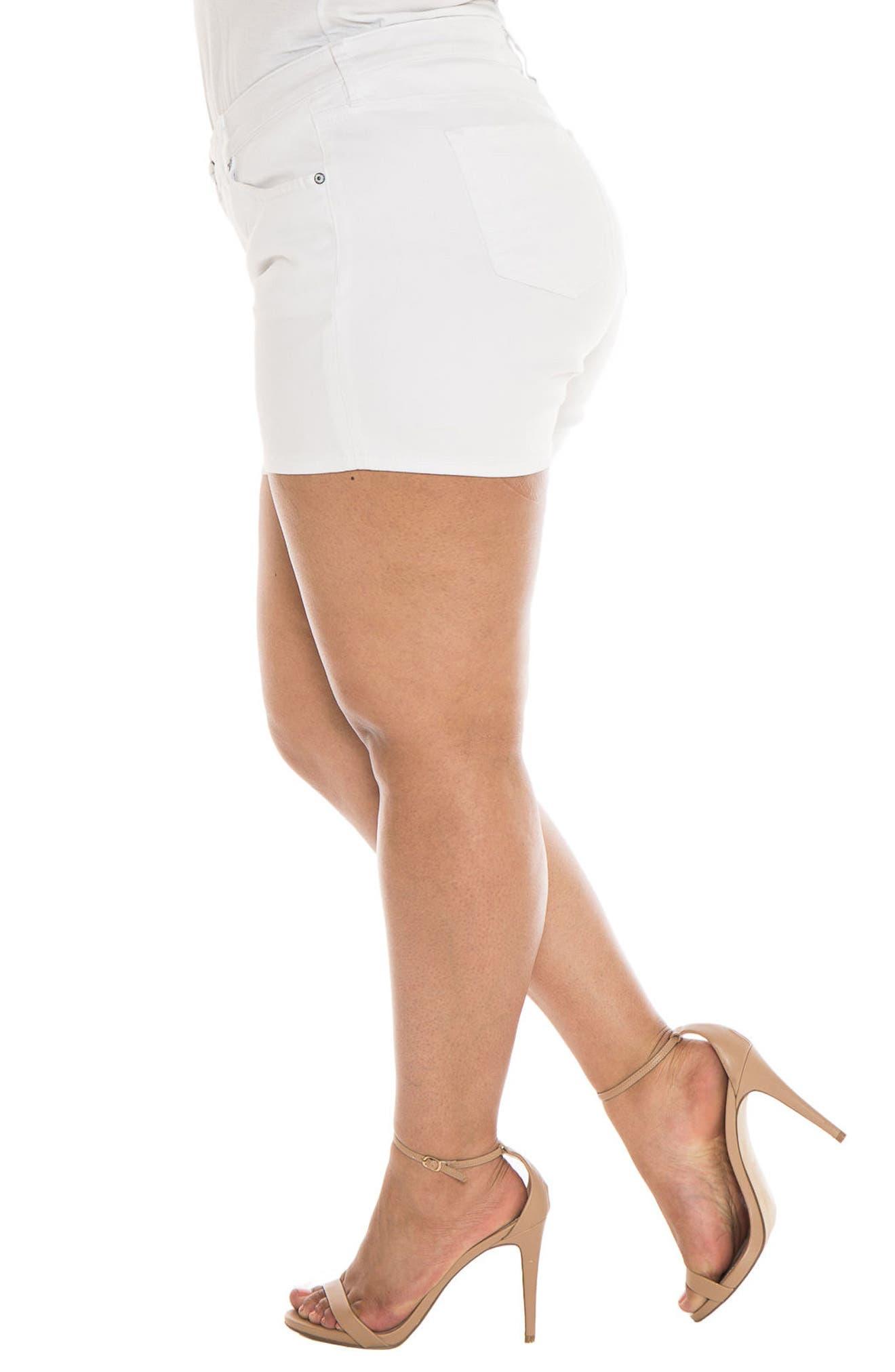 Alternate Image 3  - SLINK Jeans Stretch Denim Shorts (Plus Size)