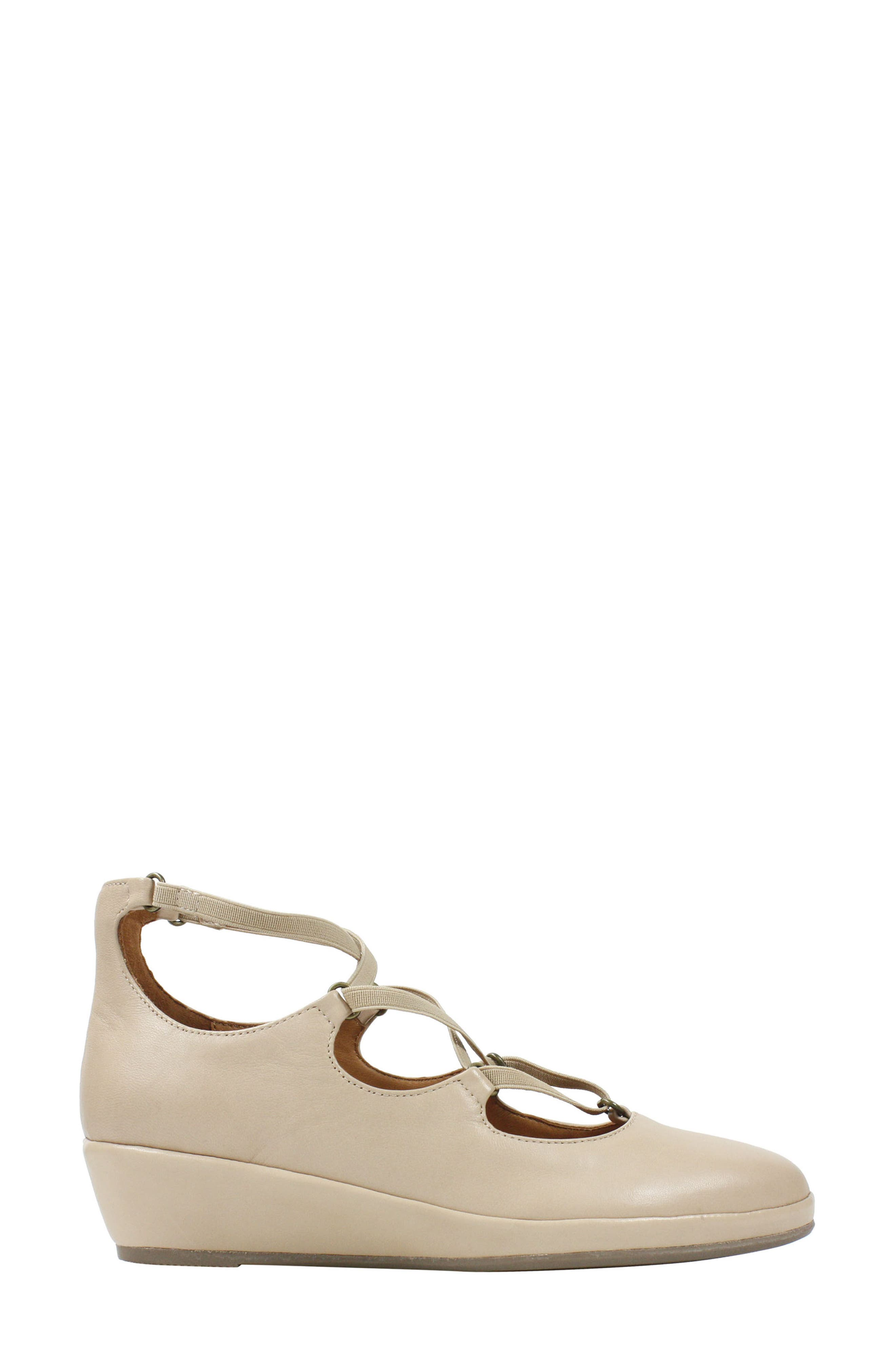 Benham Wedge,                             Alternate thumbnail 3, color,                             Nude Leather