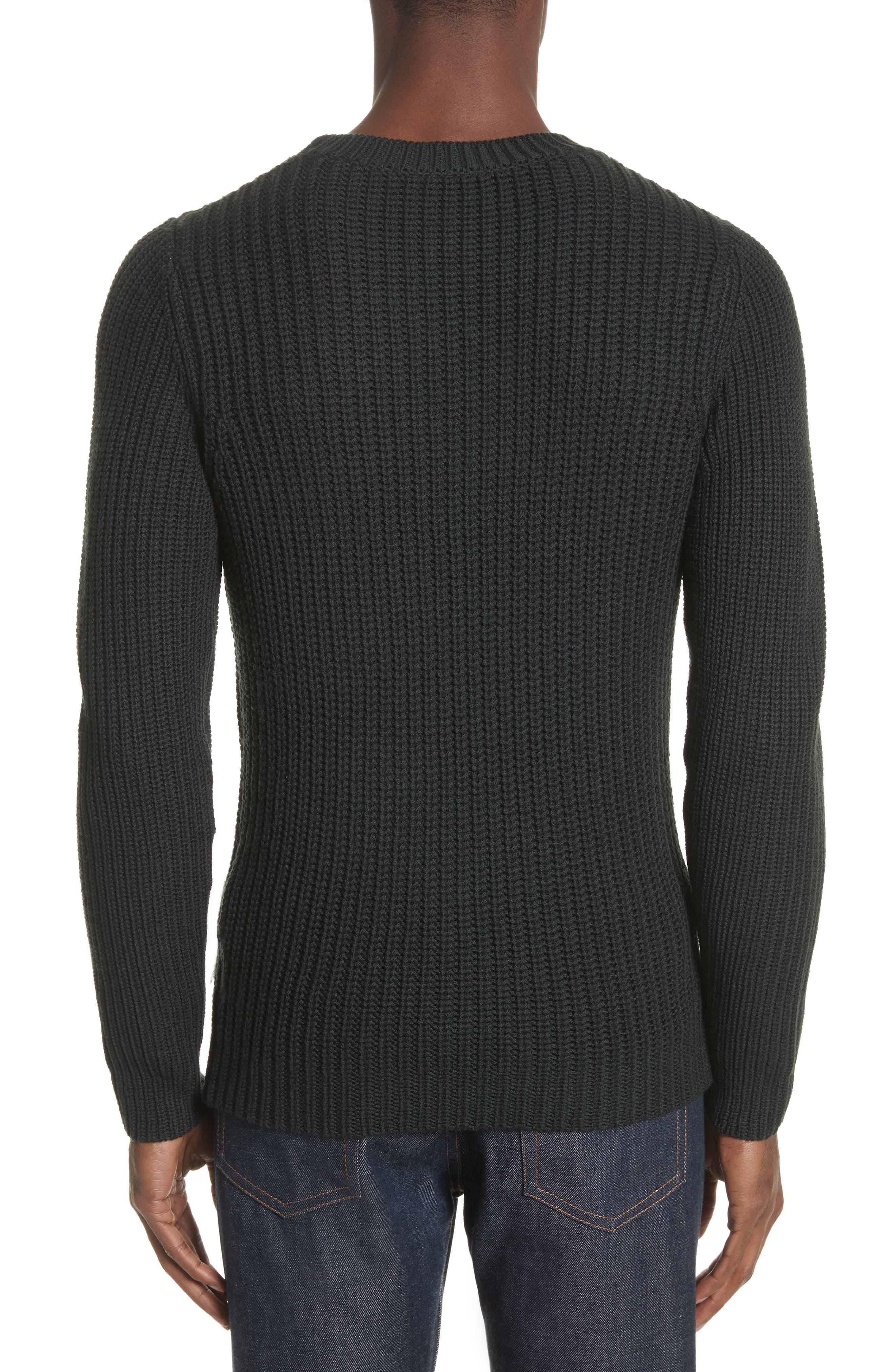 Pull Berger Merino Wool Sweater,                             Alternate thumbnail 2, color,                             Khaki Green