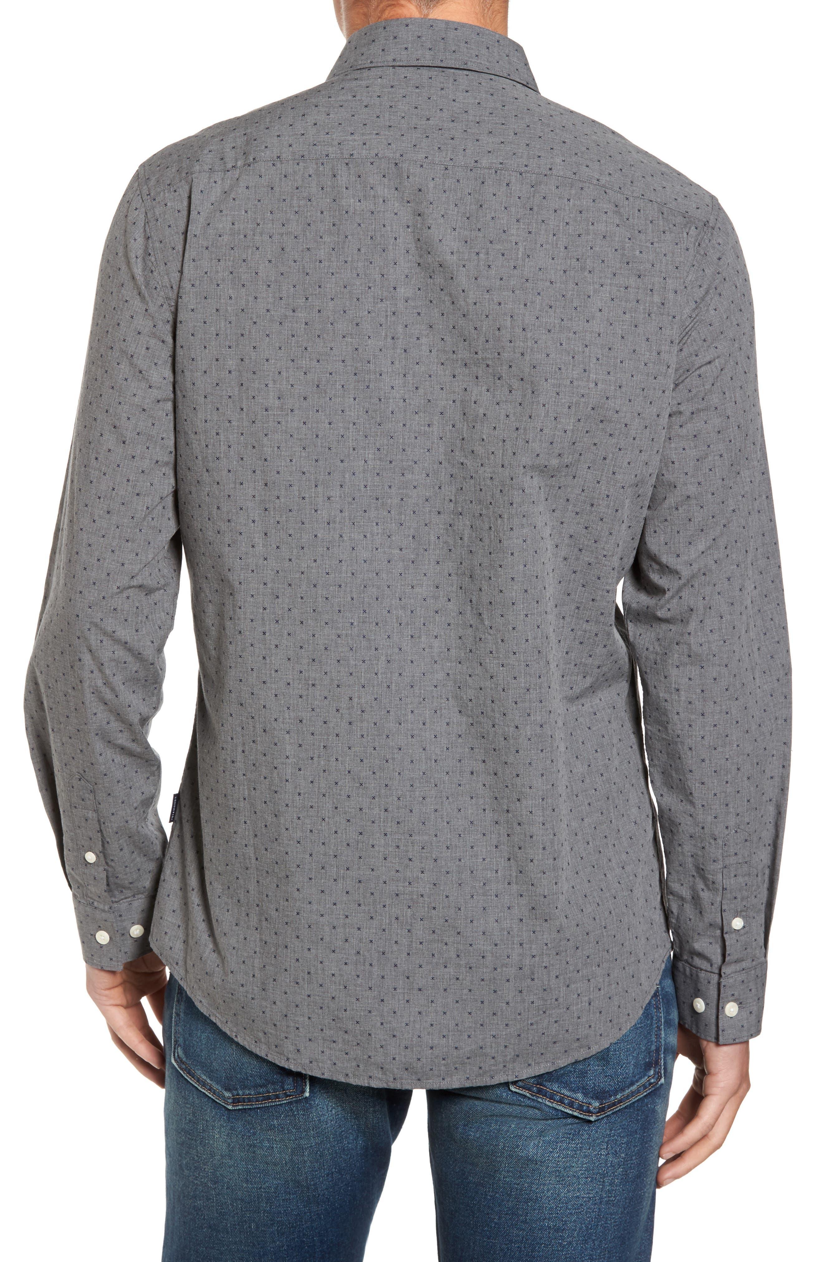 Steel Sky Woven Shirt,                             Alternate thumbnail 2, color,                             Navy