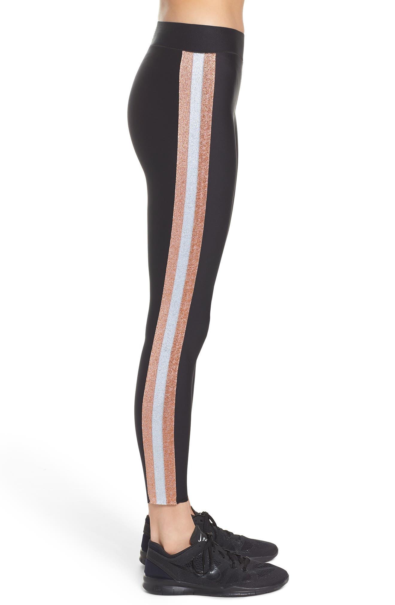 Ultra Lux Collegiate Leggings,                             Alternate thumbnail 3, color,                             Nero Rose Silver