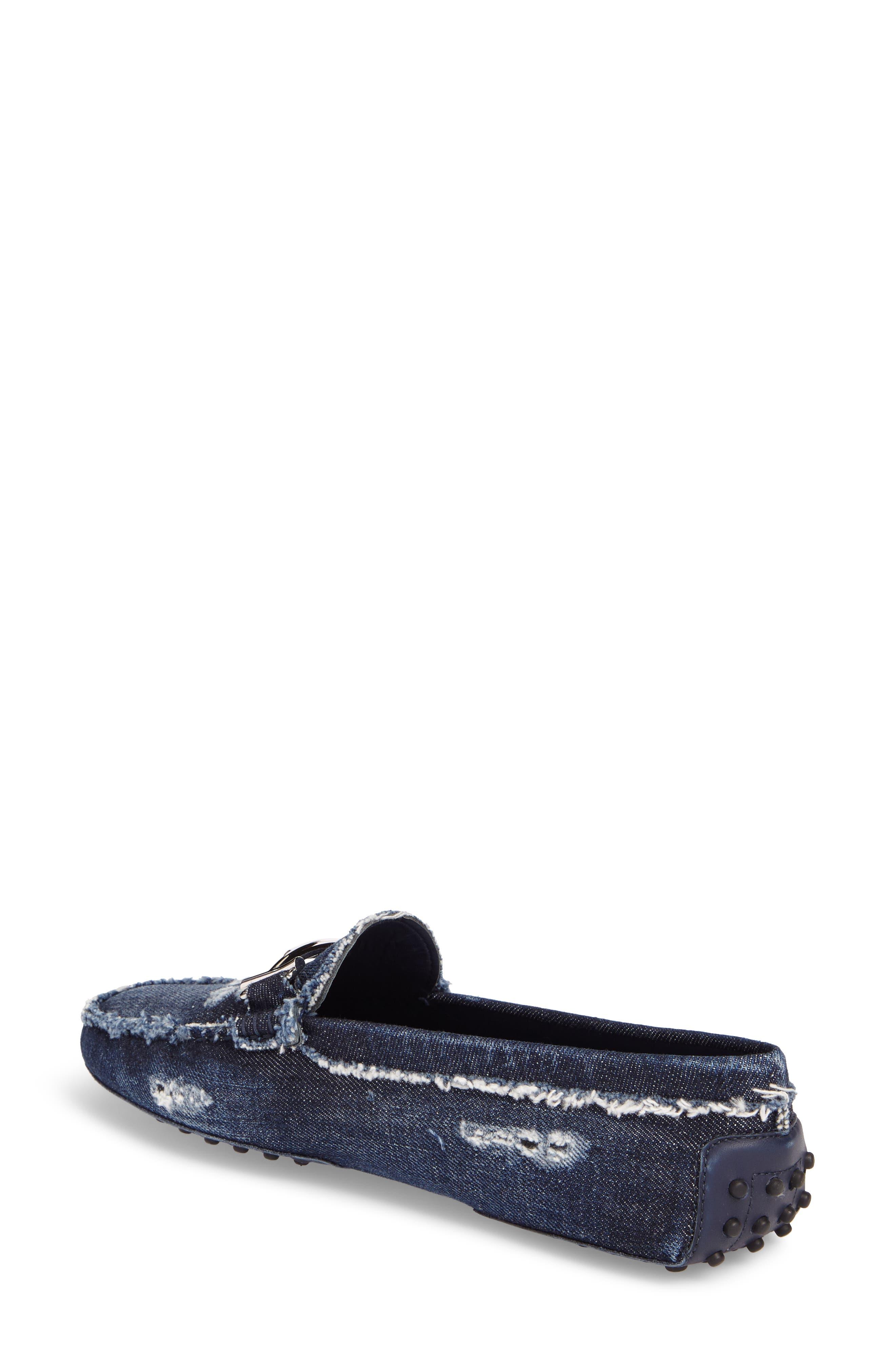 Gommino Double T Loafer,                             Alternate thumbnail 2, color,                             Denim Blue