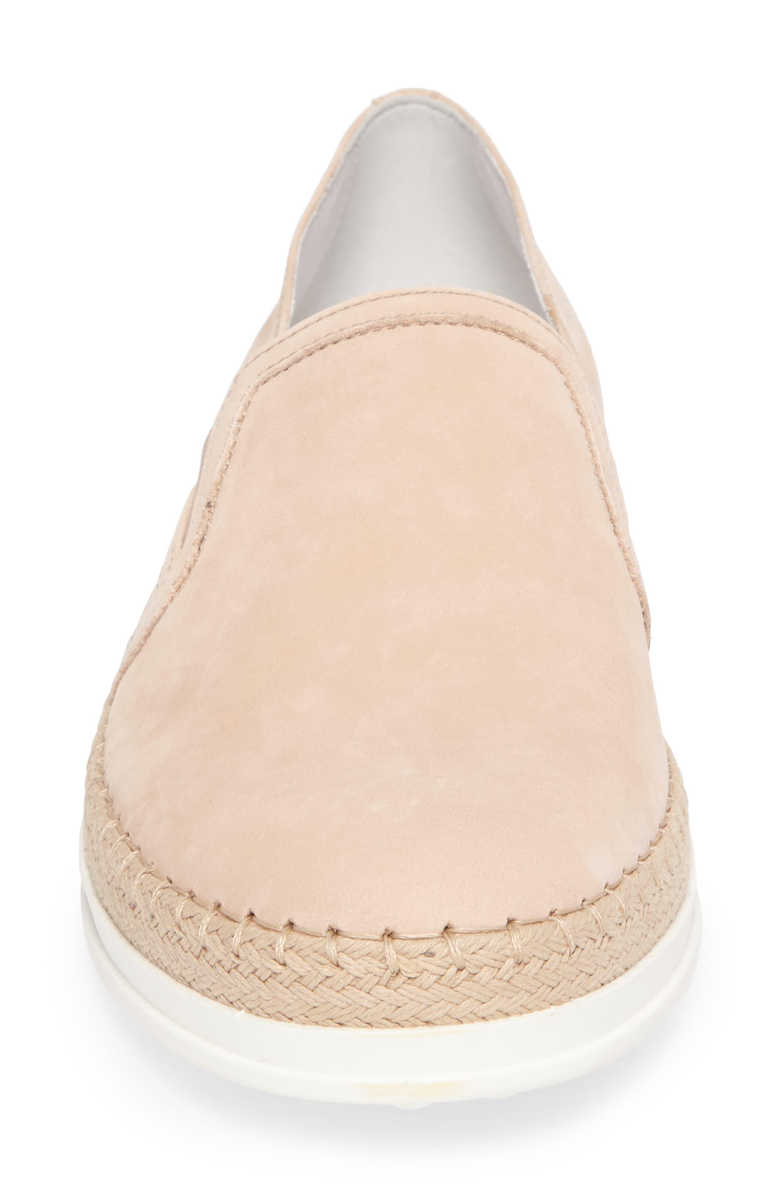 Espadrille Slip-On Sneaker,                             Alternate thumbnail 4, color,                             Ballerina Pink