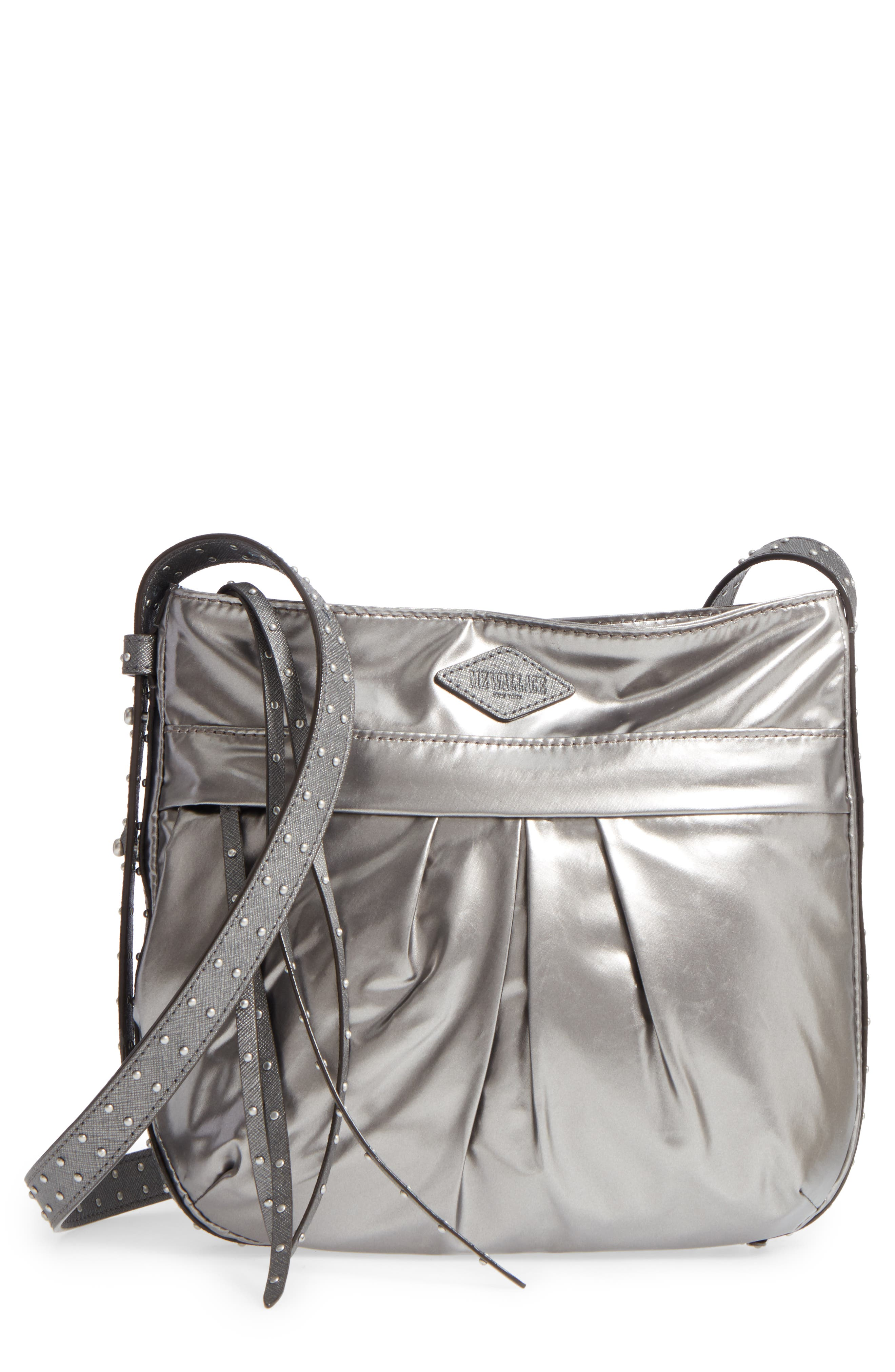 Harlow Crossbody Bag,                         Main,                         color, Pewter Leather Cococha