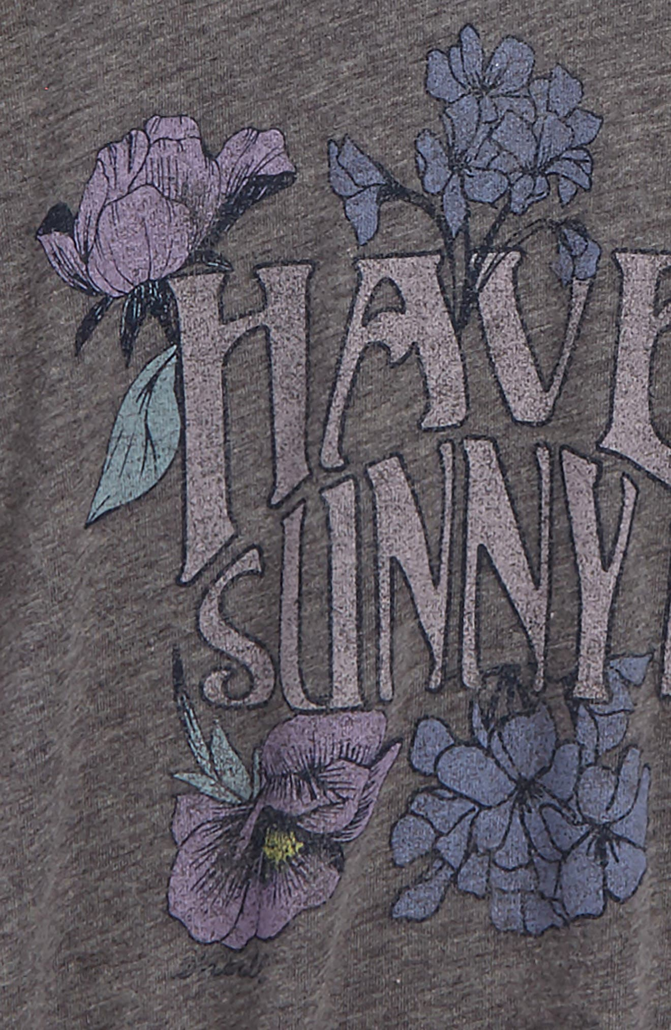 Sunny Day Graphic Tee,                             Alternate thumbnail 3, color,                             Heather Grey - Hgr