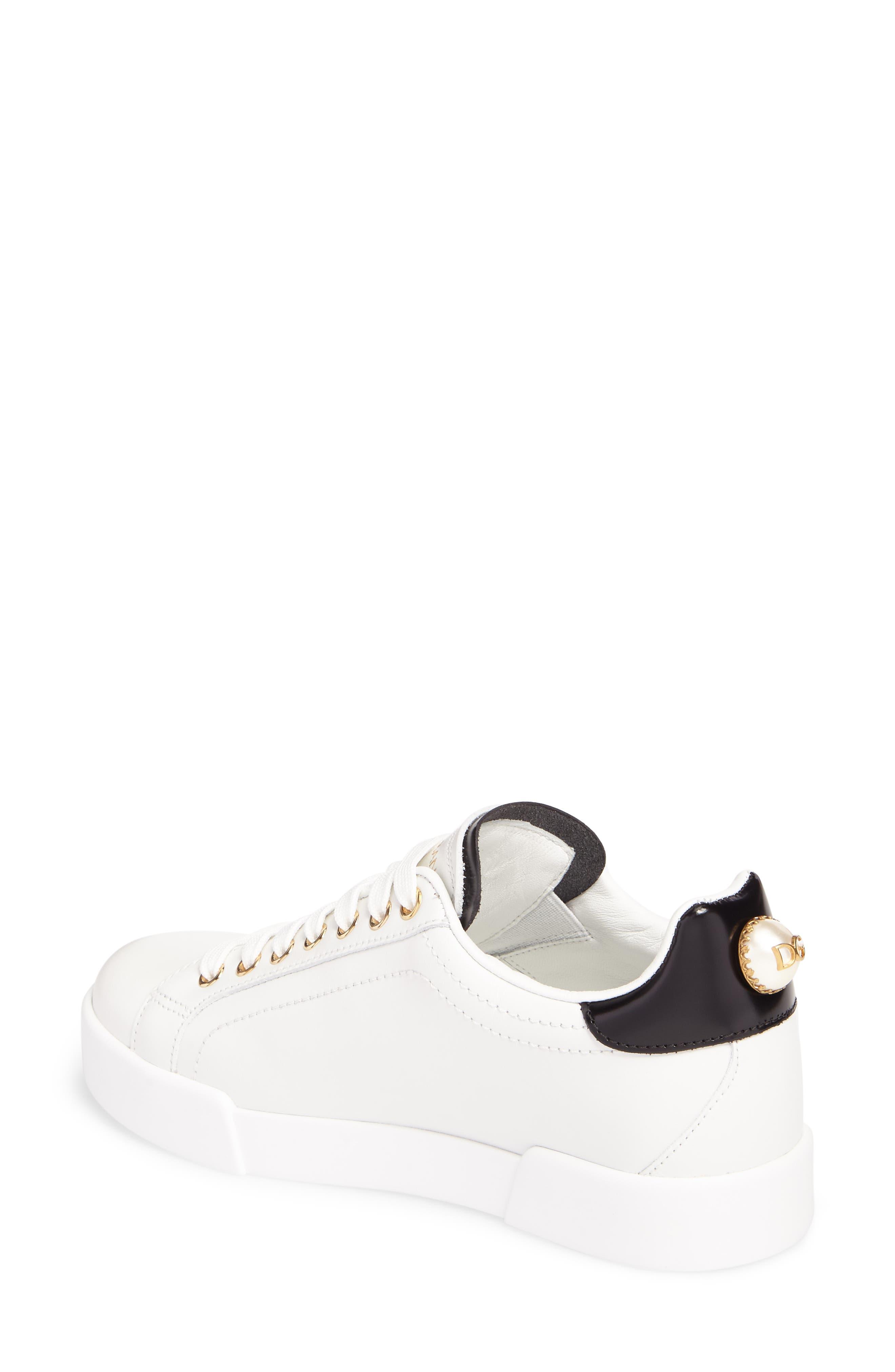 Alternate Image 2  - Dolce&Gabbana Logo Embellished Sneaker (Women)