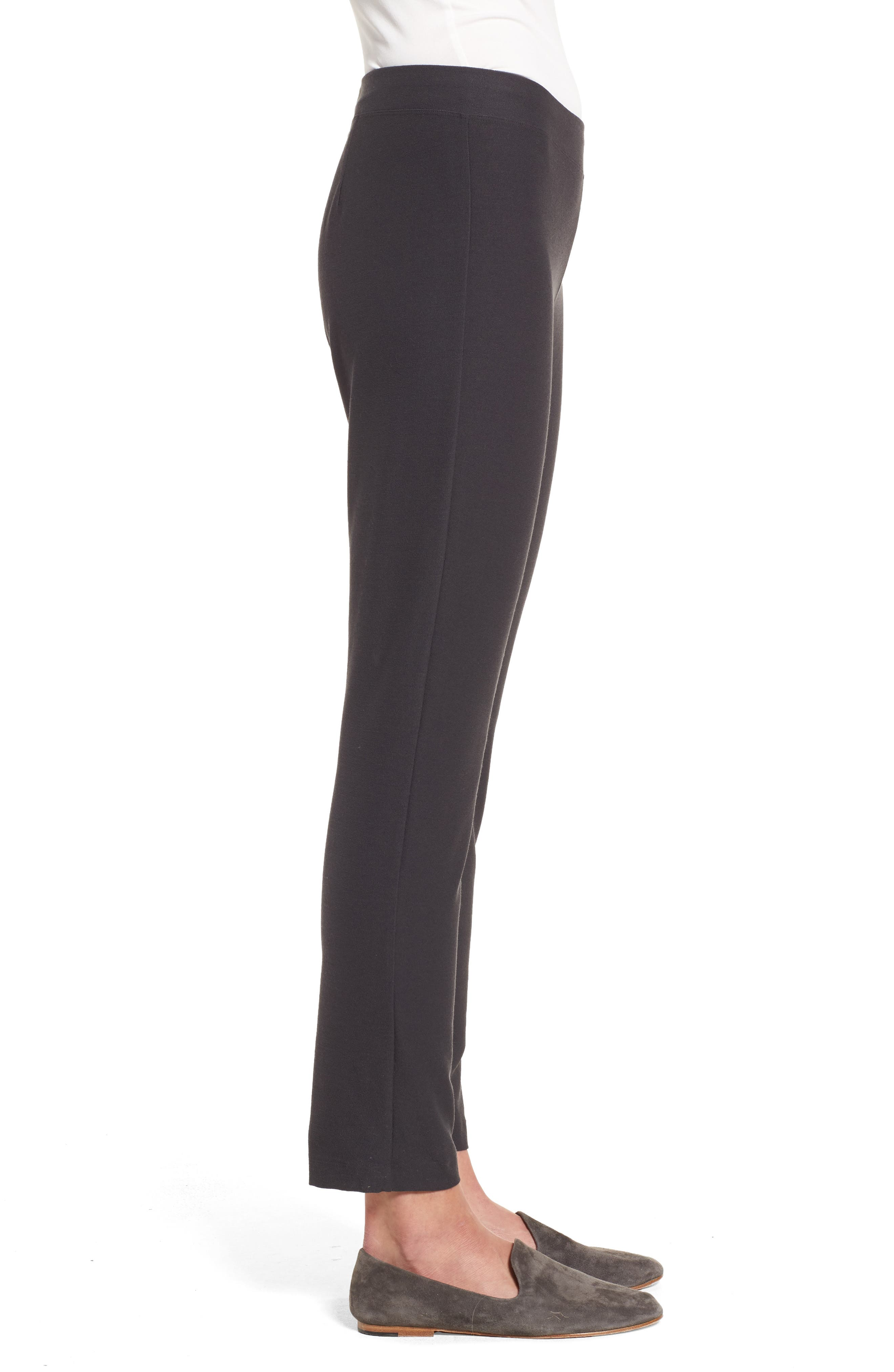 Alternate Image 3  - Eileen Fisher Stretch Crepe Ankle Pants (Regular & Petite) (Online Only)