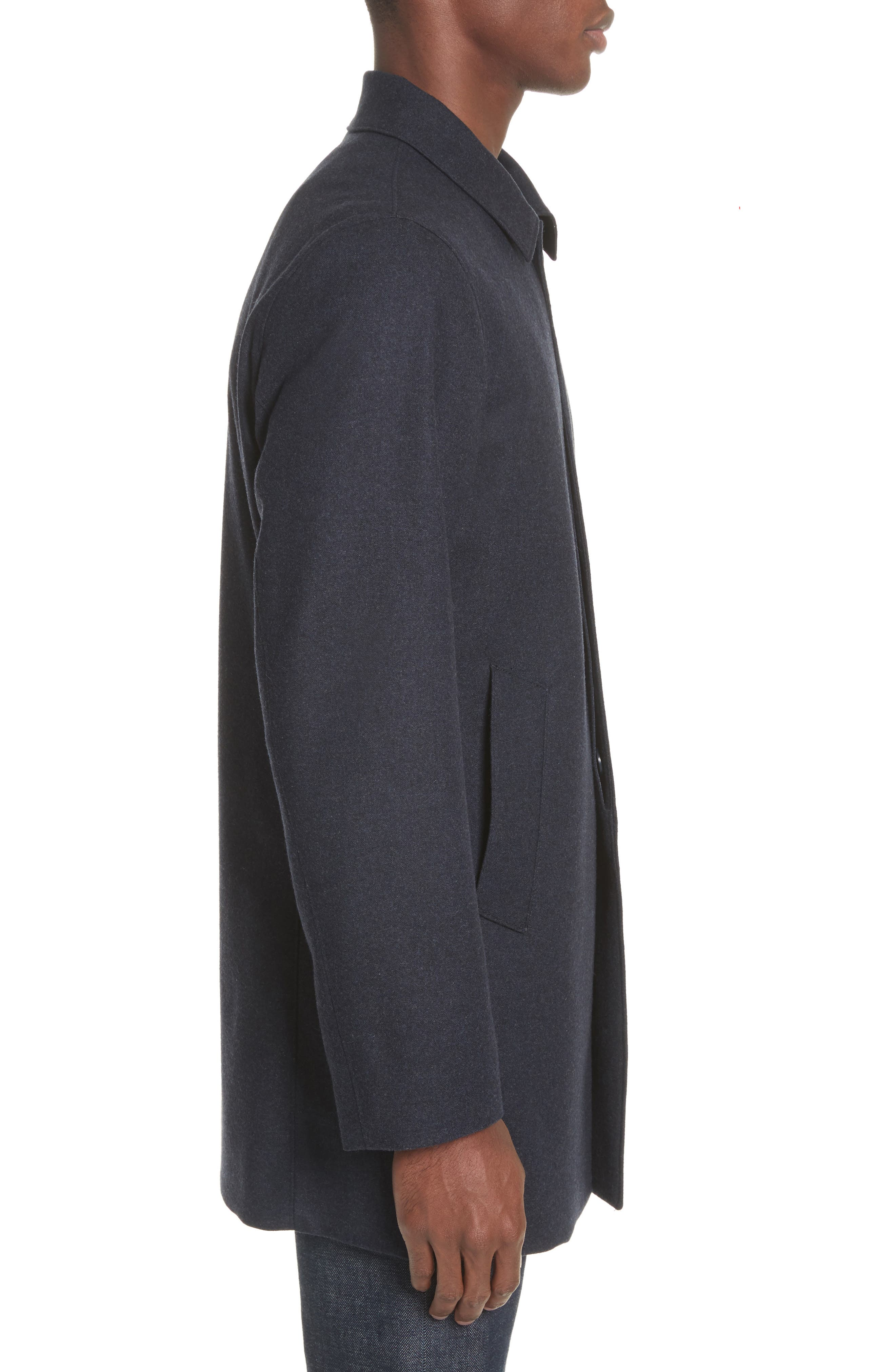 Alternate Image 3  - John Varvatos Star USA Buckley Wool Blend Topcoat