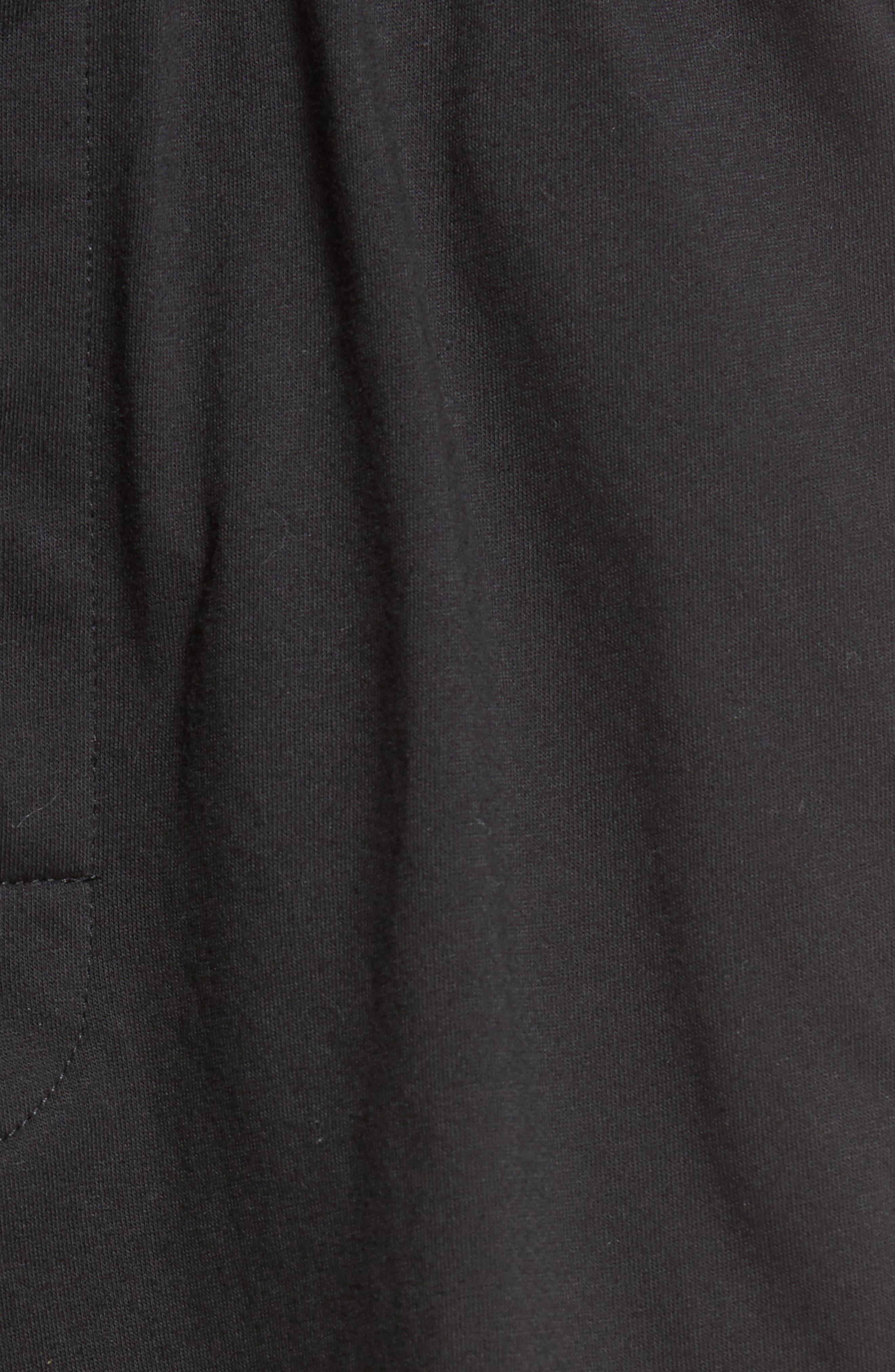 Cotton Lounge Shorts,                             Alternate thumbnail 5, color,                             Solid Black