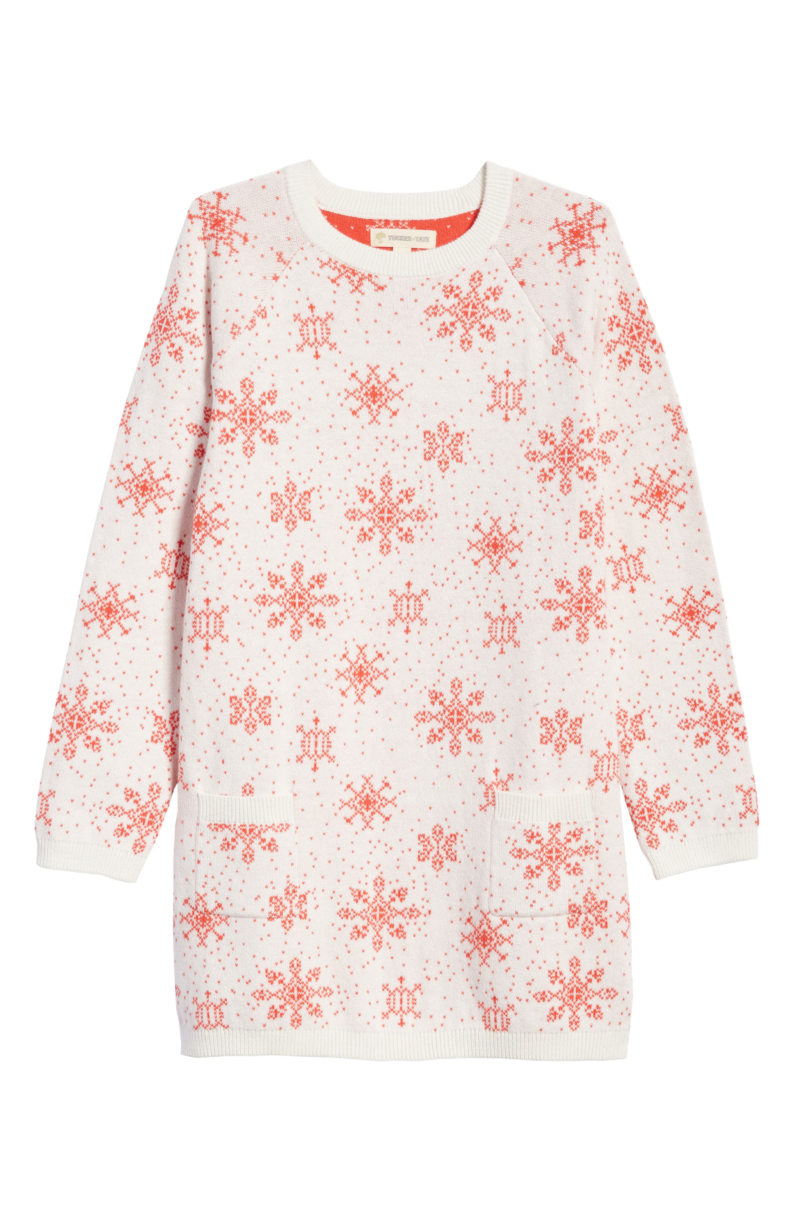 Main Image - Tucker + Tate Cotton & Cashmere Sweater Dress (Toddler Girls, Little Girls & Big Girls)