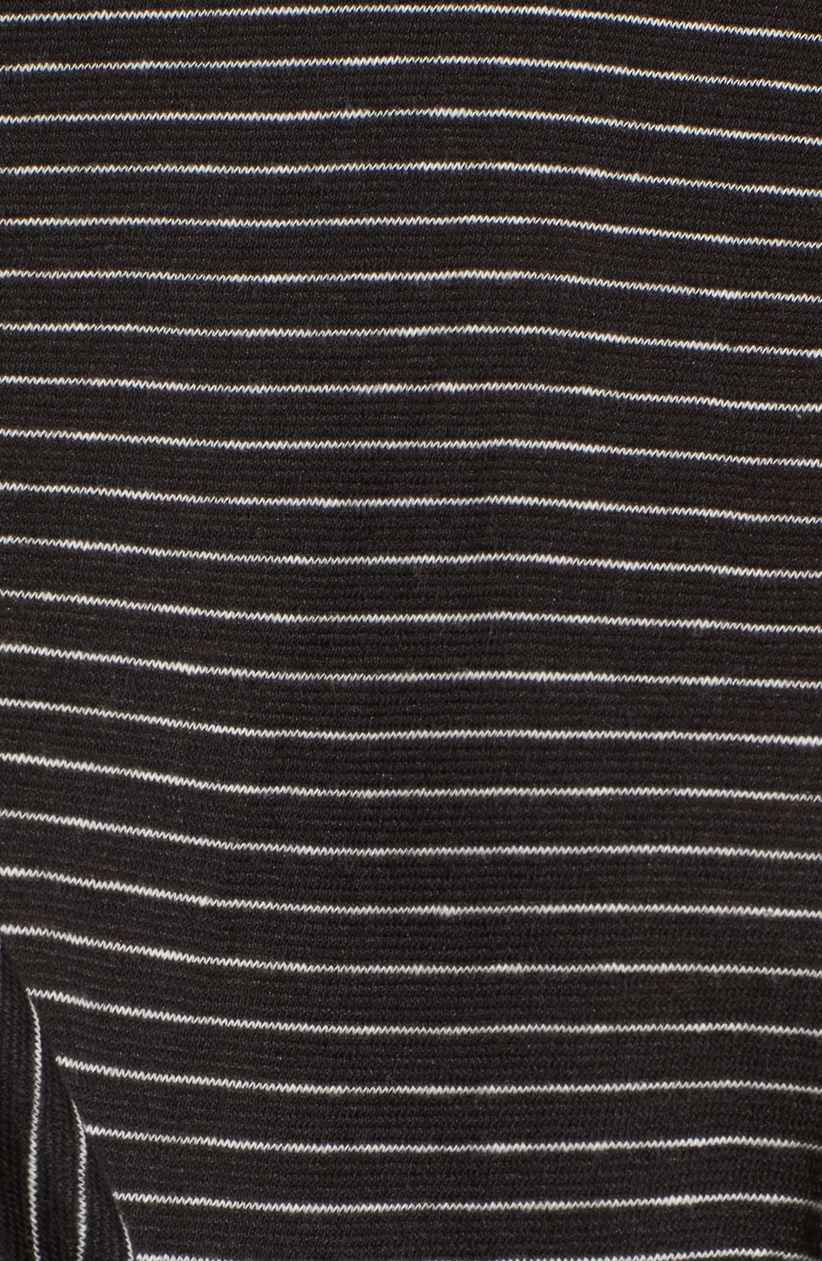 Side Tie Tee,                             Alternate thumbnail 5, color,                             Black Chelsea Stripe