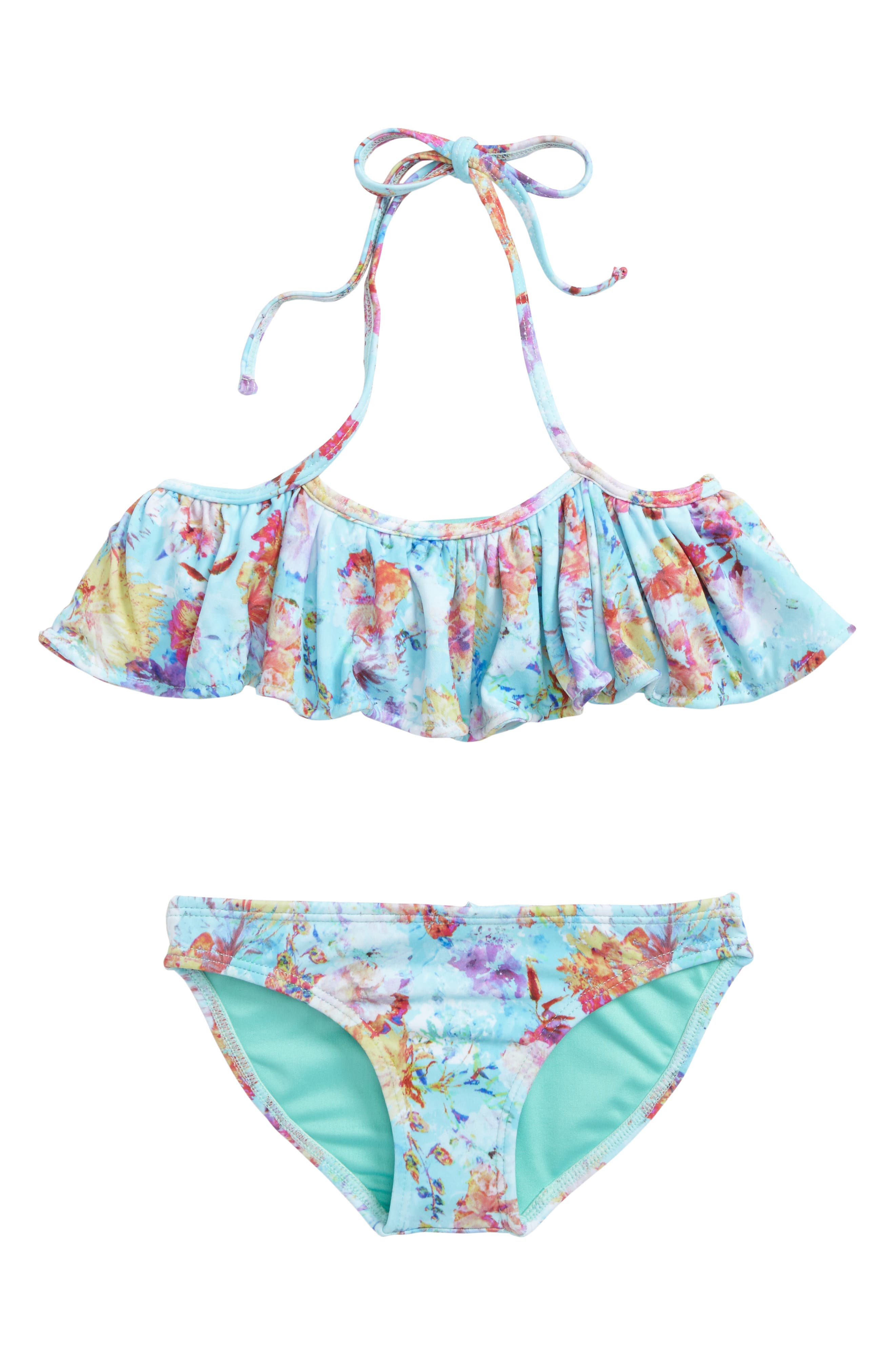 Leta Two-Piece Swimsuit,                             Main thumbnail 1, color,                             Hermosa Beach