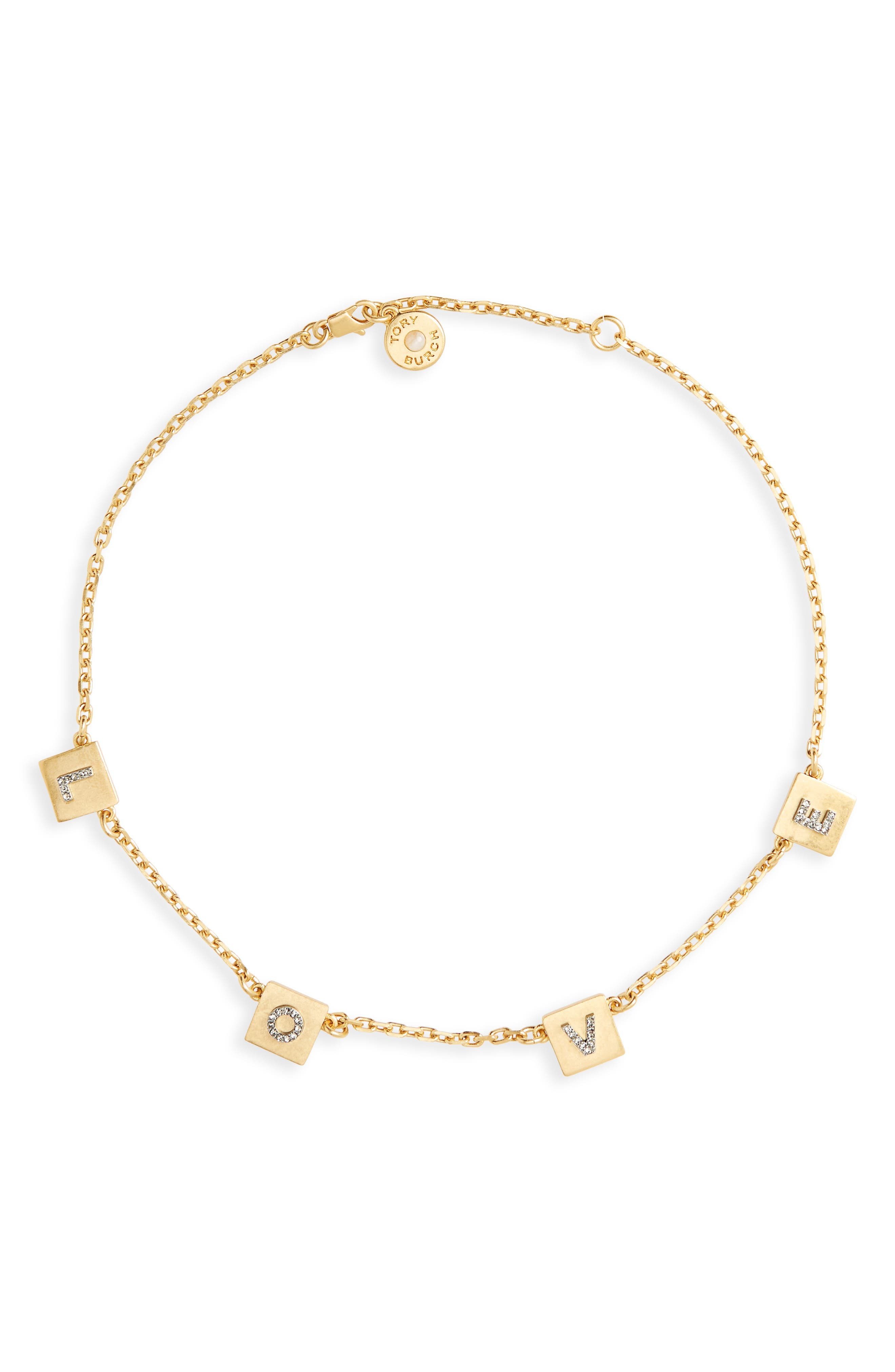 Tory Burch Love Message Collar Necklace