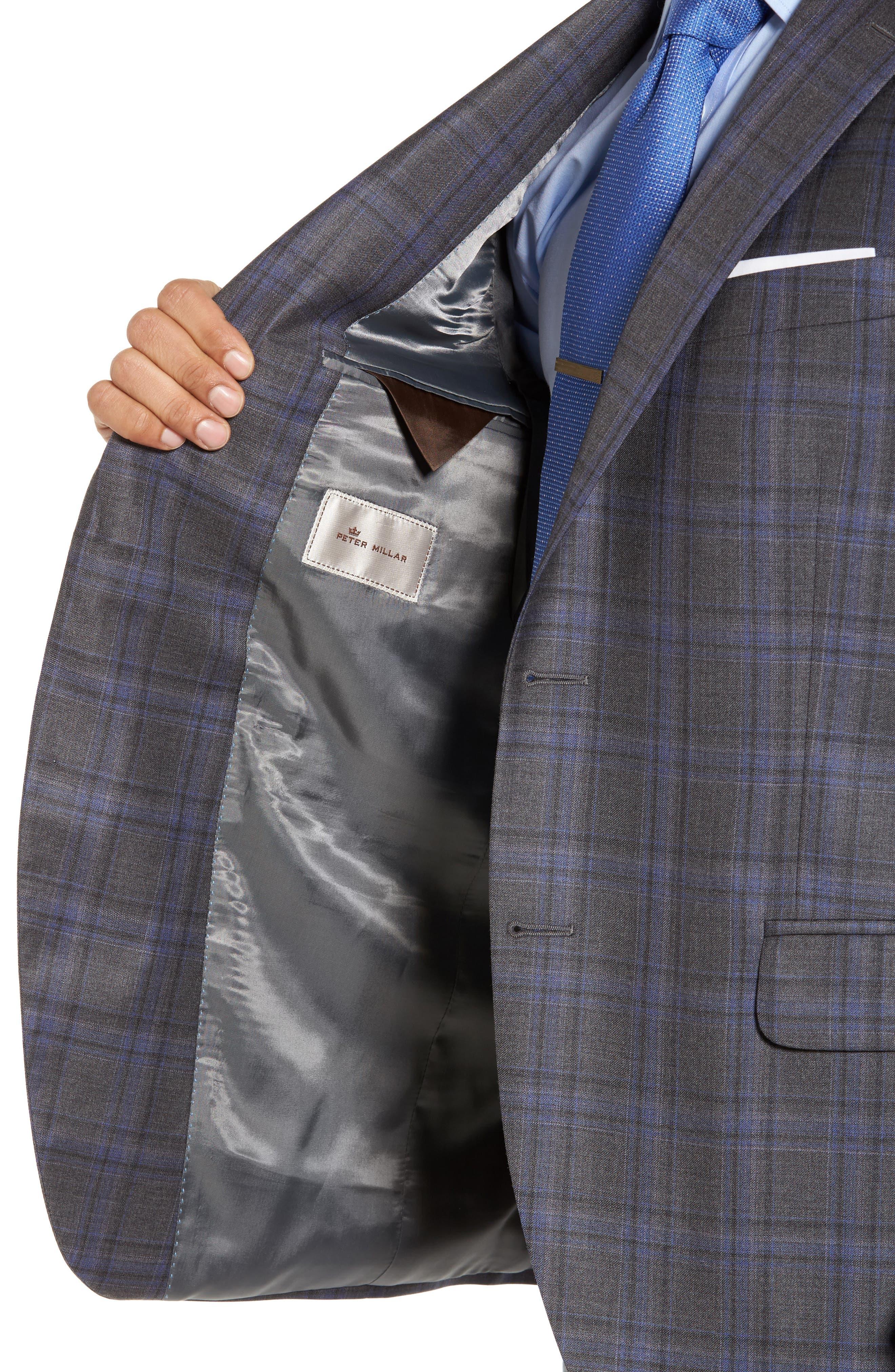 Alternate Image 4  - Peter Millar Classic Fit Plaid Wool Sport Coat